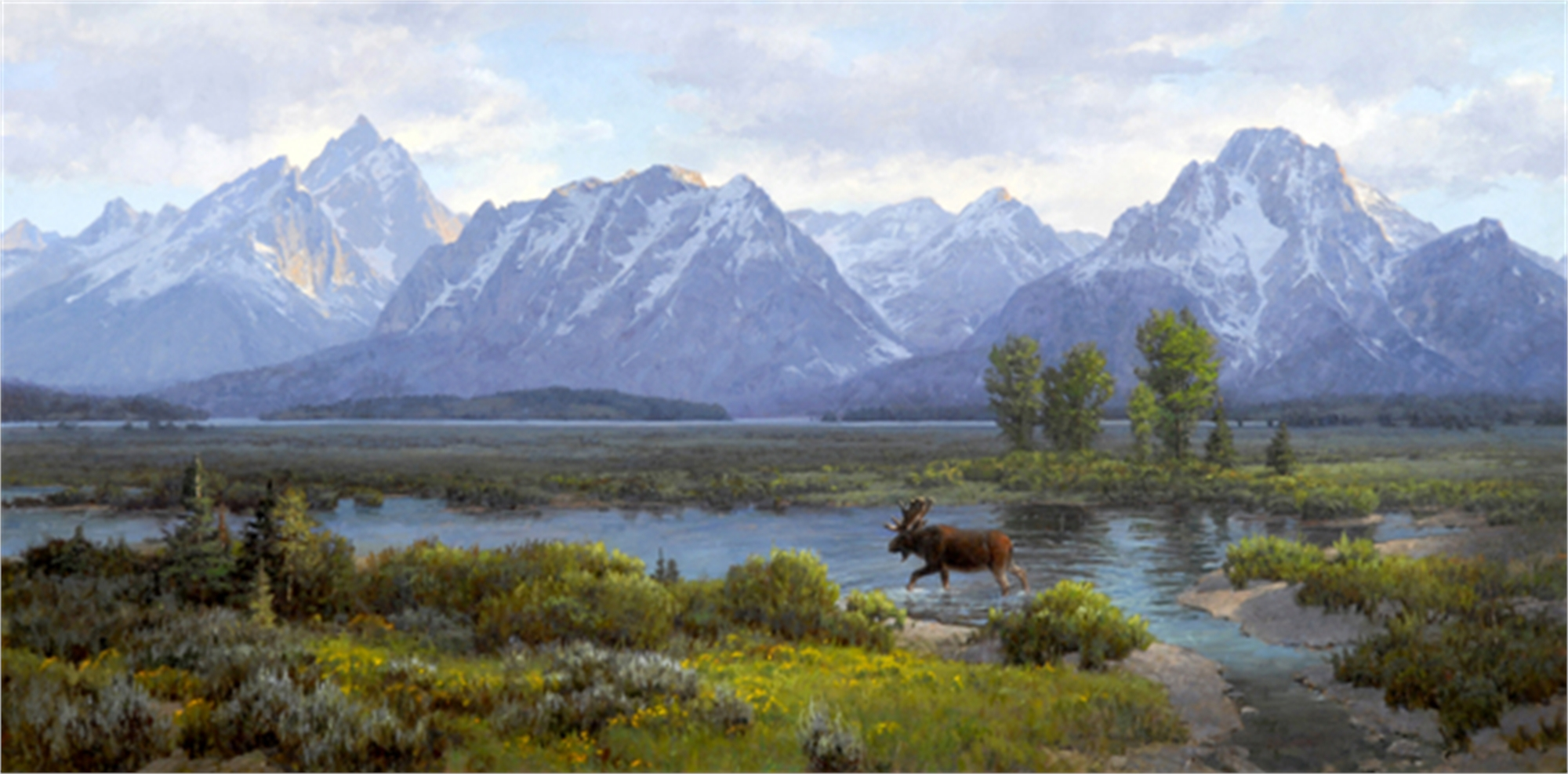 Moose Heaven (Large) by Jim Wilcox
