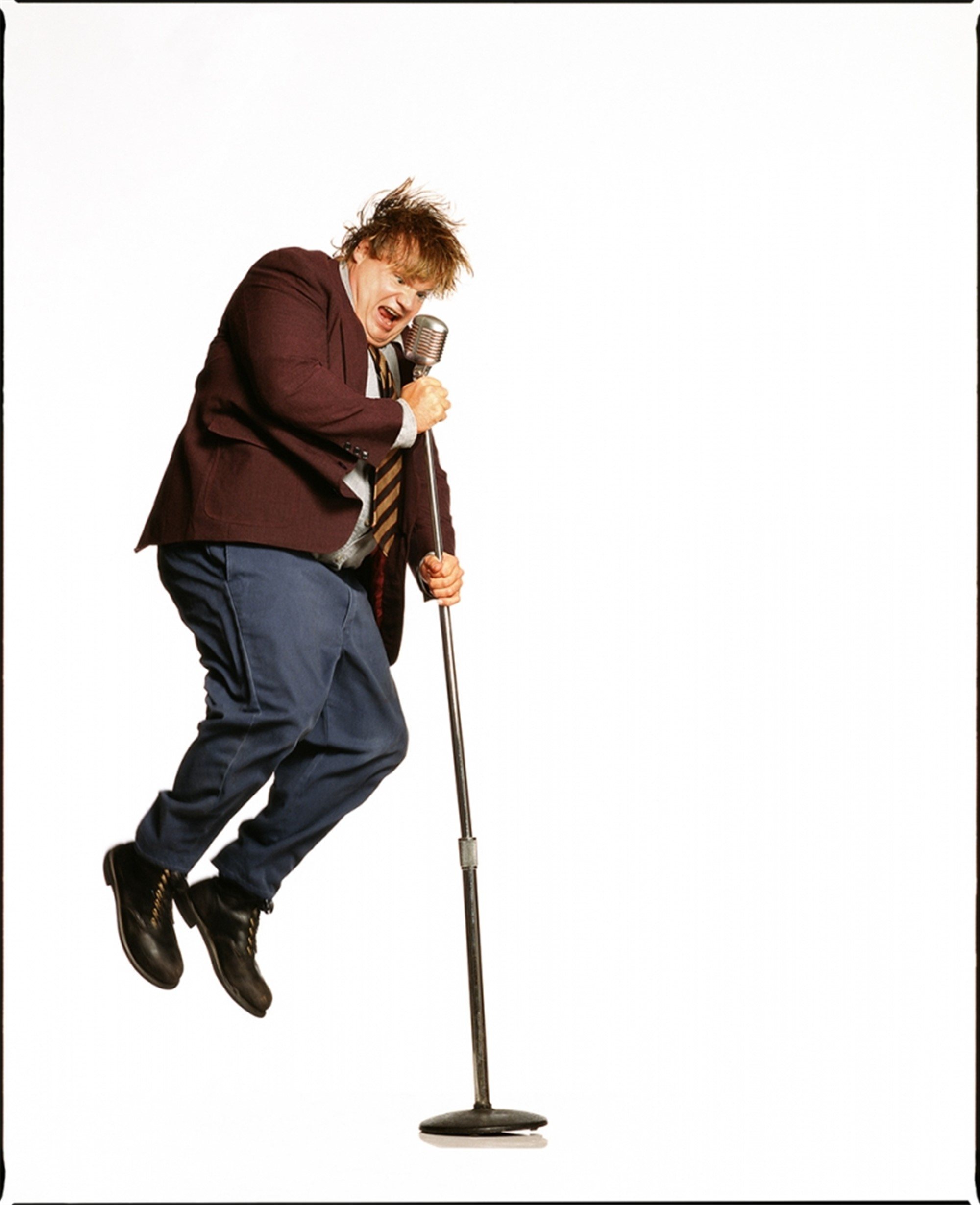 95076 Chris Farley Jumping Color by Timothy White