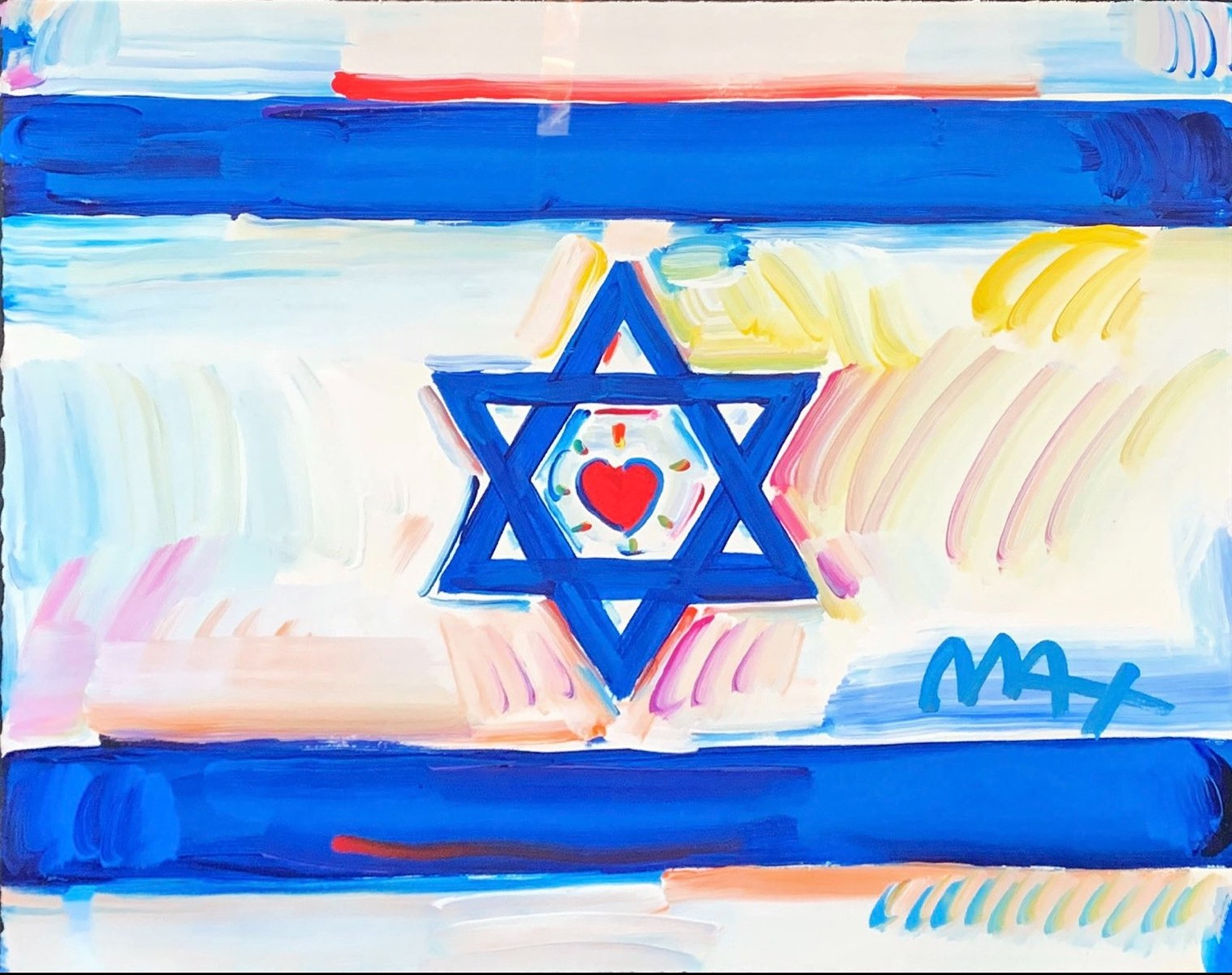 Israel Flag by Peter Max
