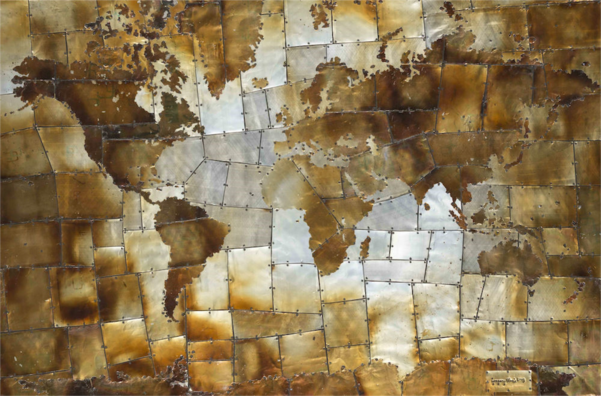 Map in Silver and Gold by Gregory Block