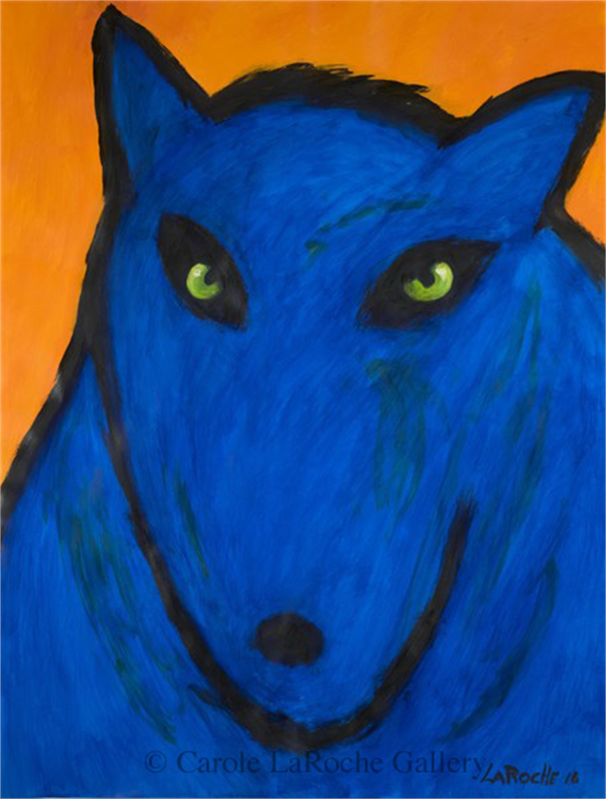 WILD BLUE WOLF #4 by Carole LaRoche