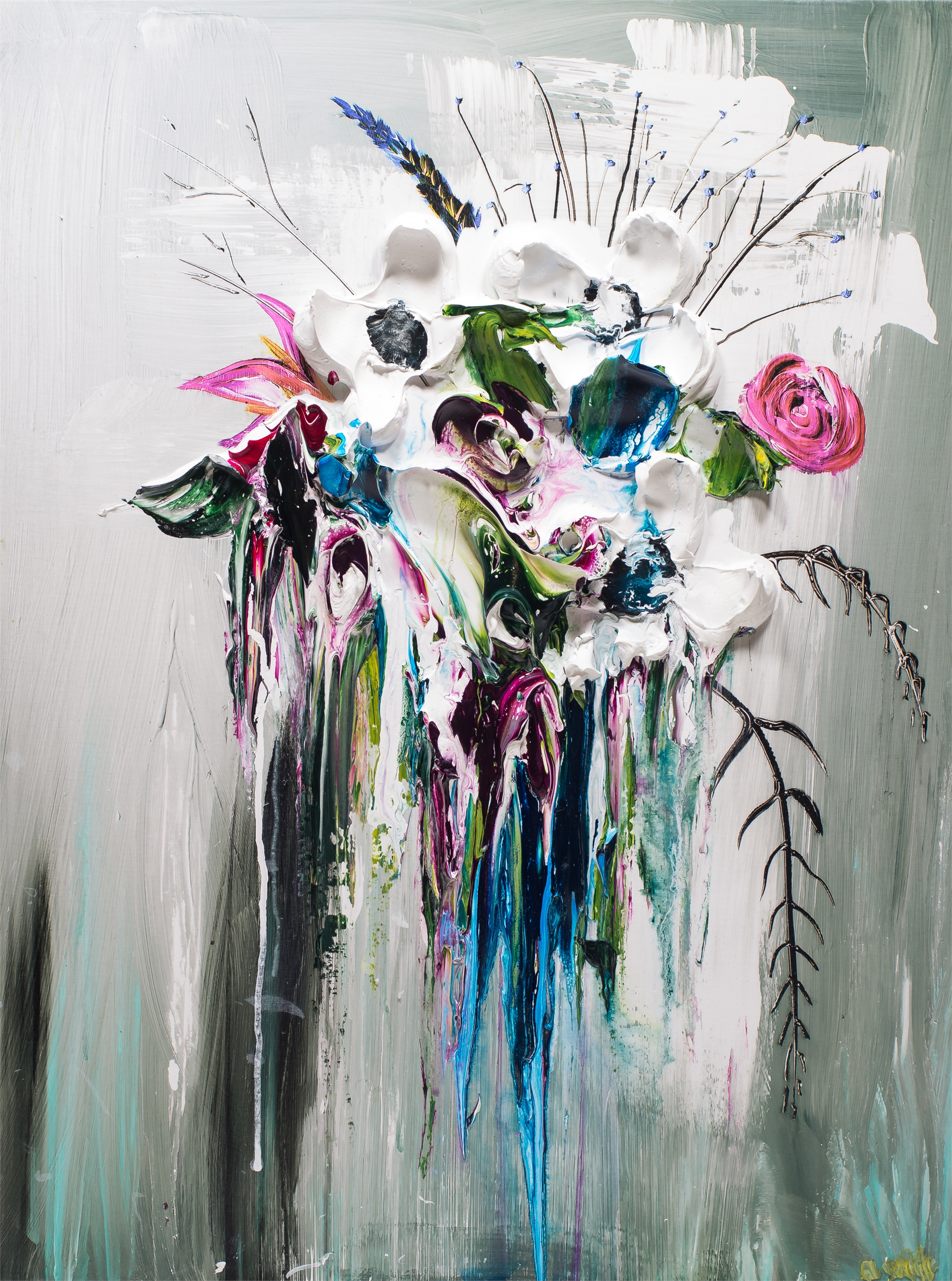 ABSTRACT FLORAL BOUQUET HPAE 8/50 by JUSTIN GAFFREY