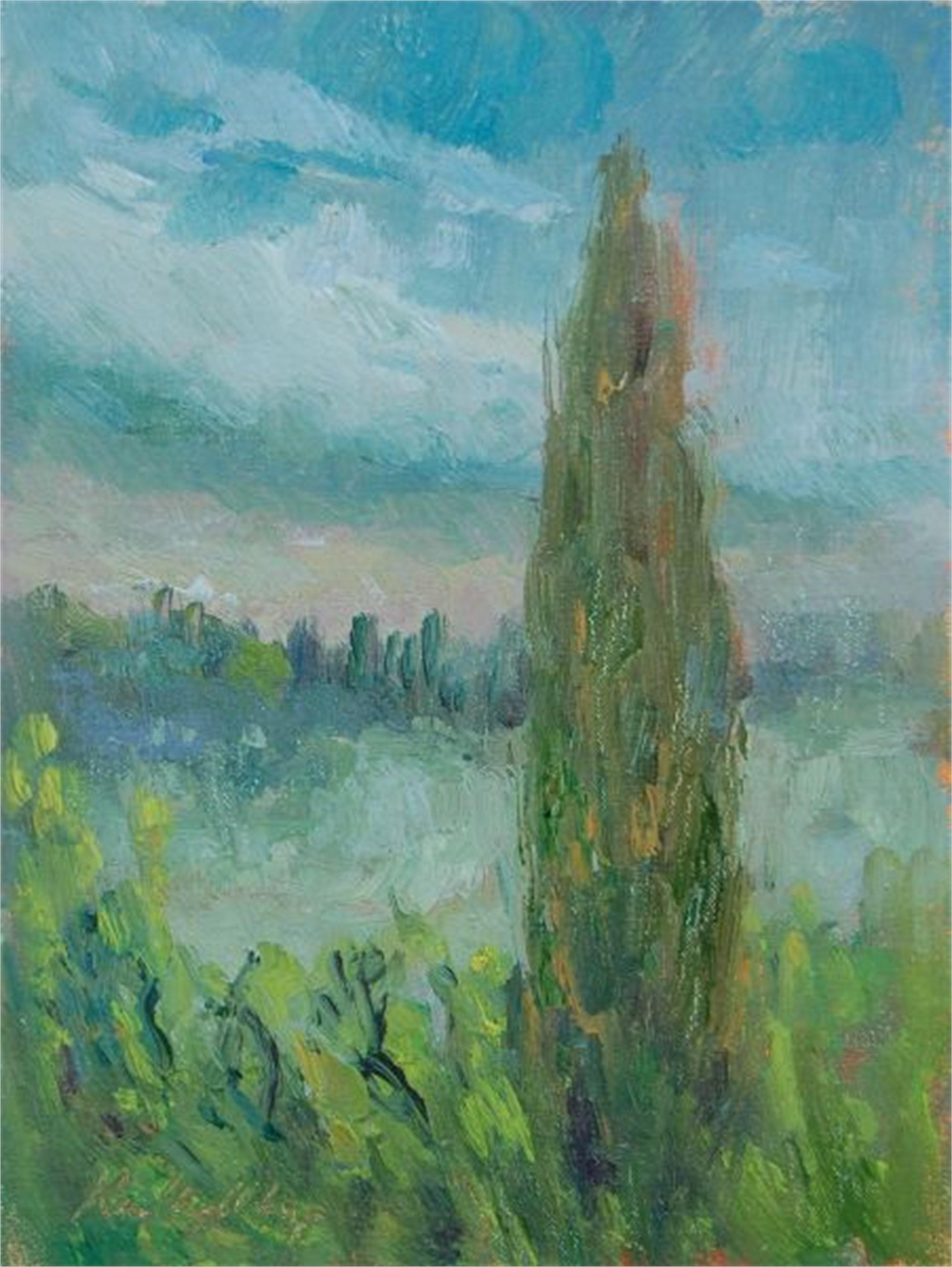 Through the Rain in Tuscany by Karen Hewitt Hagan