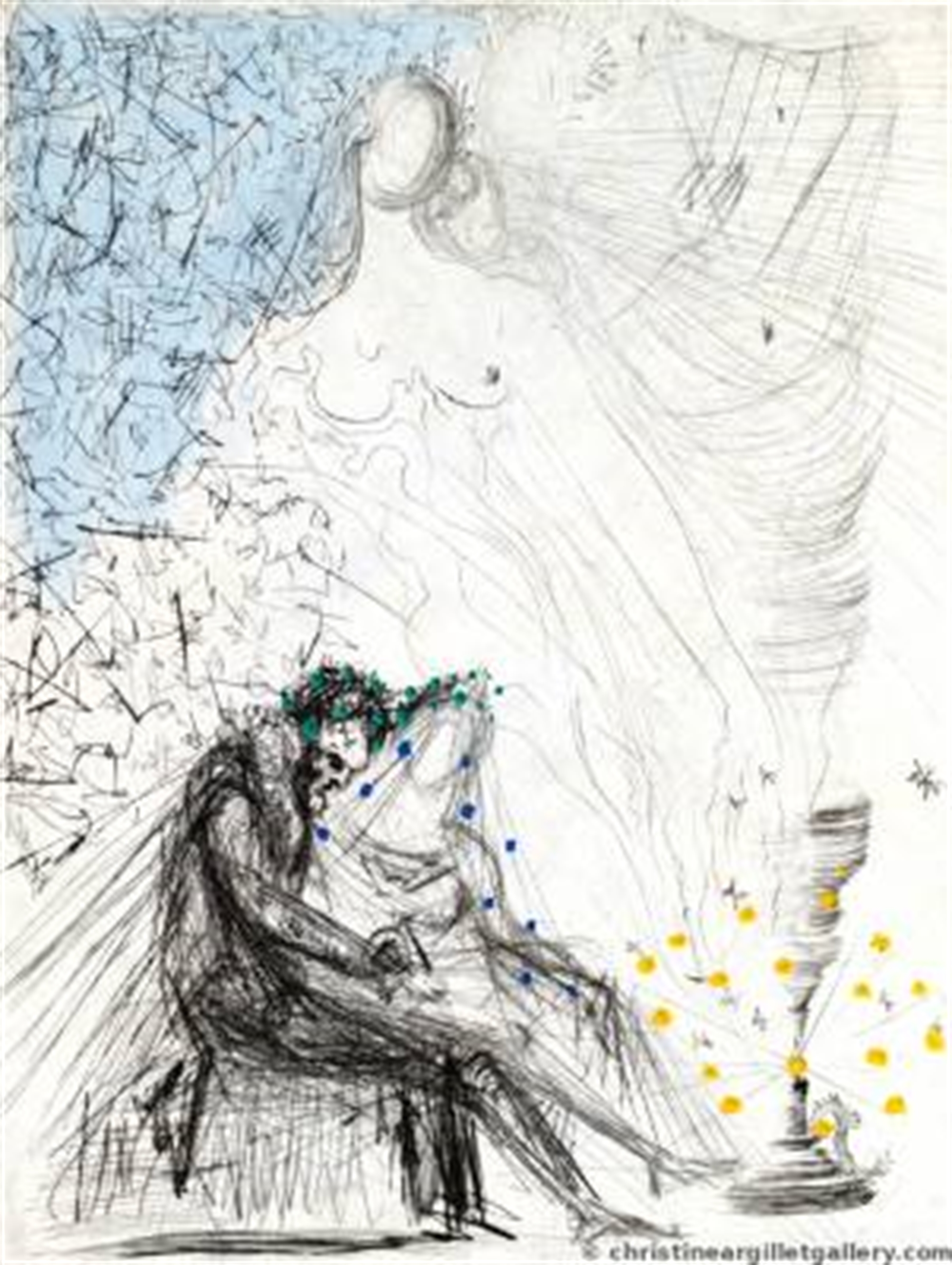 """Ronsard """"Couple with Candle"""" by Salvador Dali"""