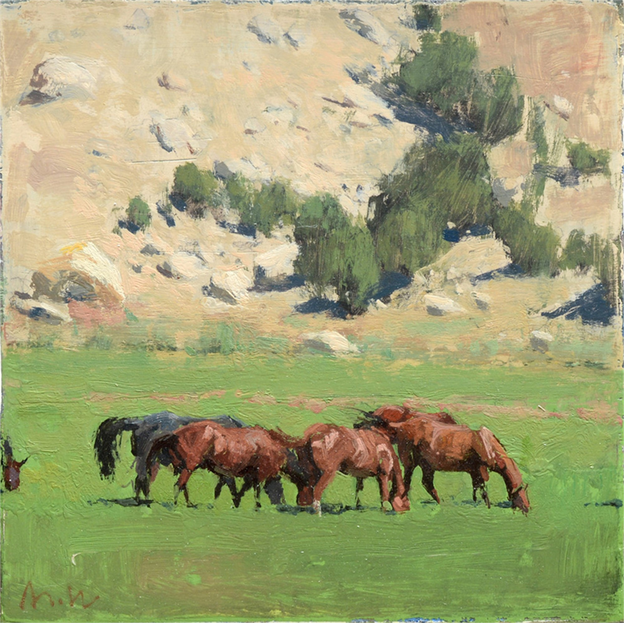 Canyon Horses II by Michael Workman