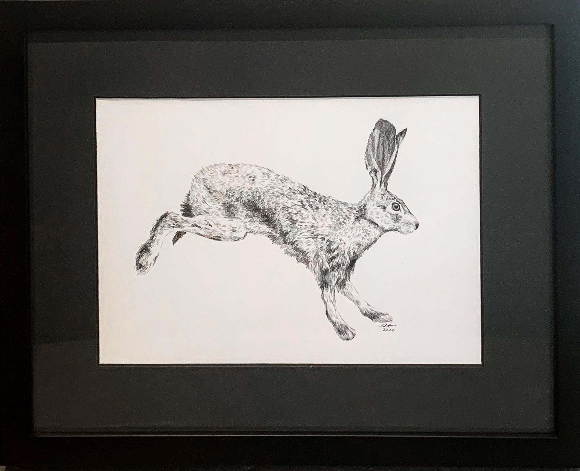 Running Hare by Jill Hakala