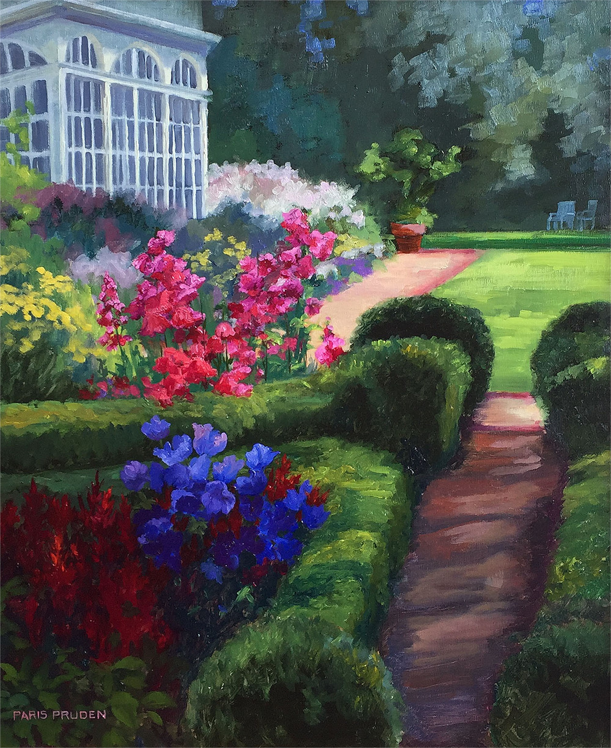 Flower Garden by Nancy Paris Pruden