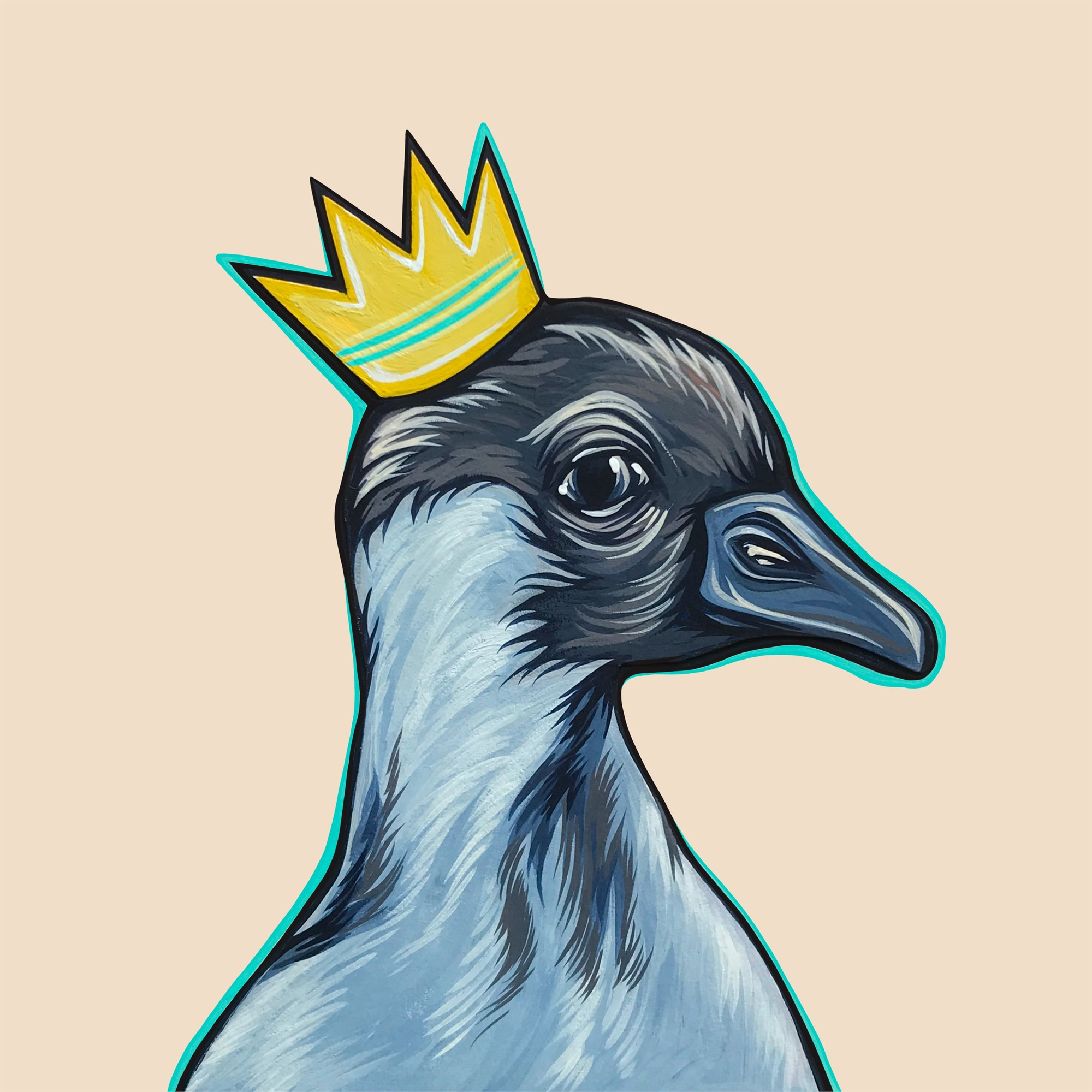 Mighty Ducks Teal Crown by Kaitlin Ziesmer