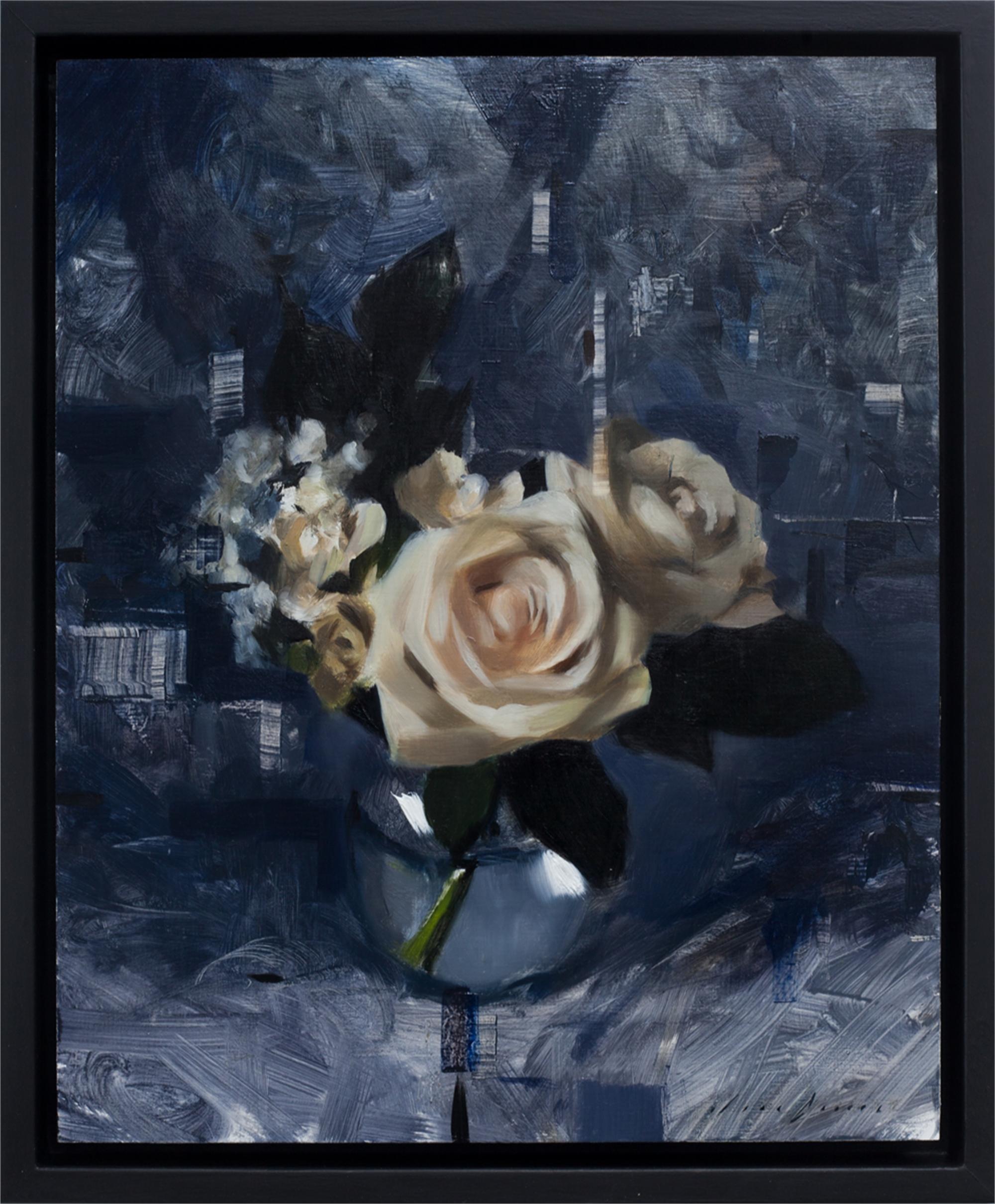White Roses and Dark Blue by Jon Doran