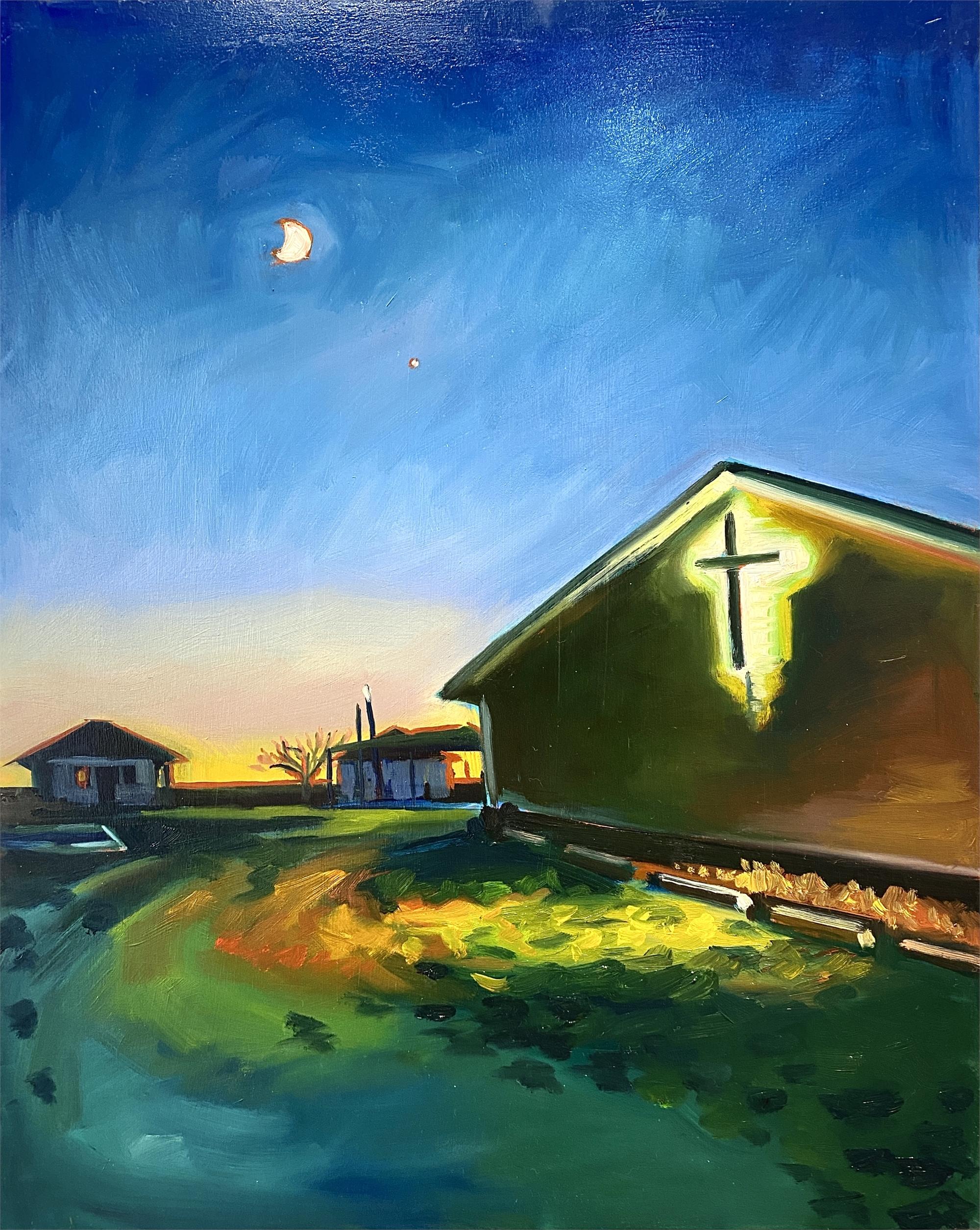 Orange Evening Diptych 2 by Sari Shryack
