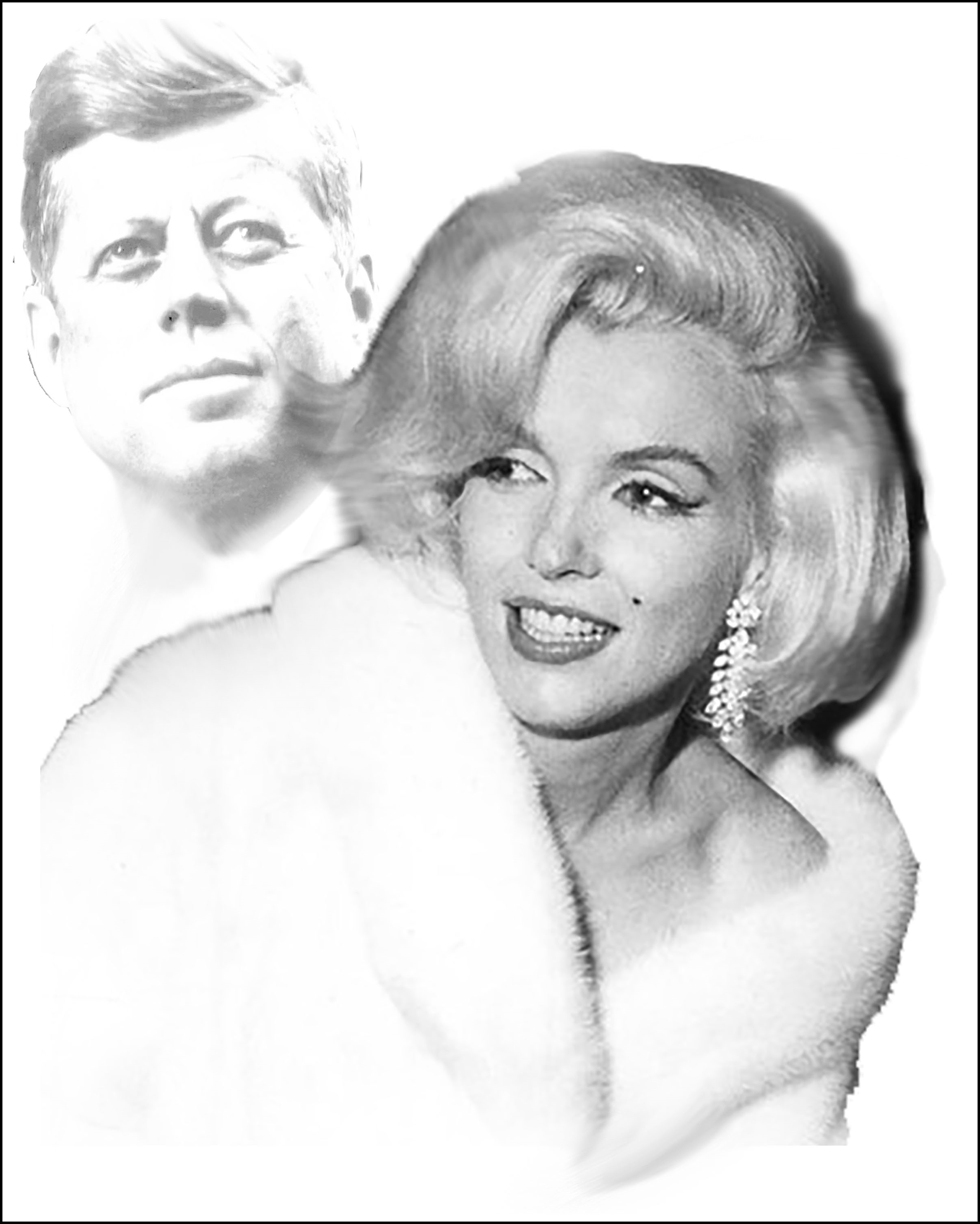 Marilyn and JFK Available as Commission- Size TBD by Bill Mack Hollywood Sign