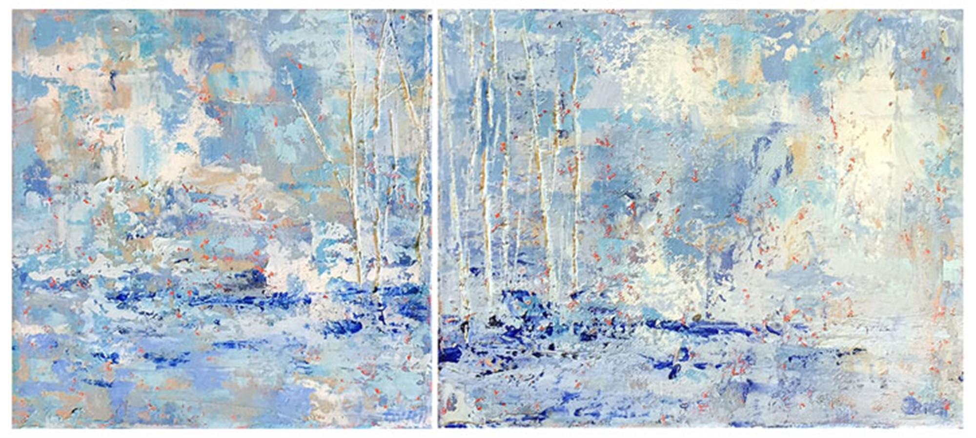Solstice I & II (diptych) by Barrett Edwards