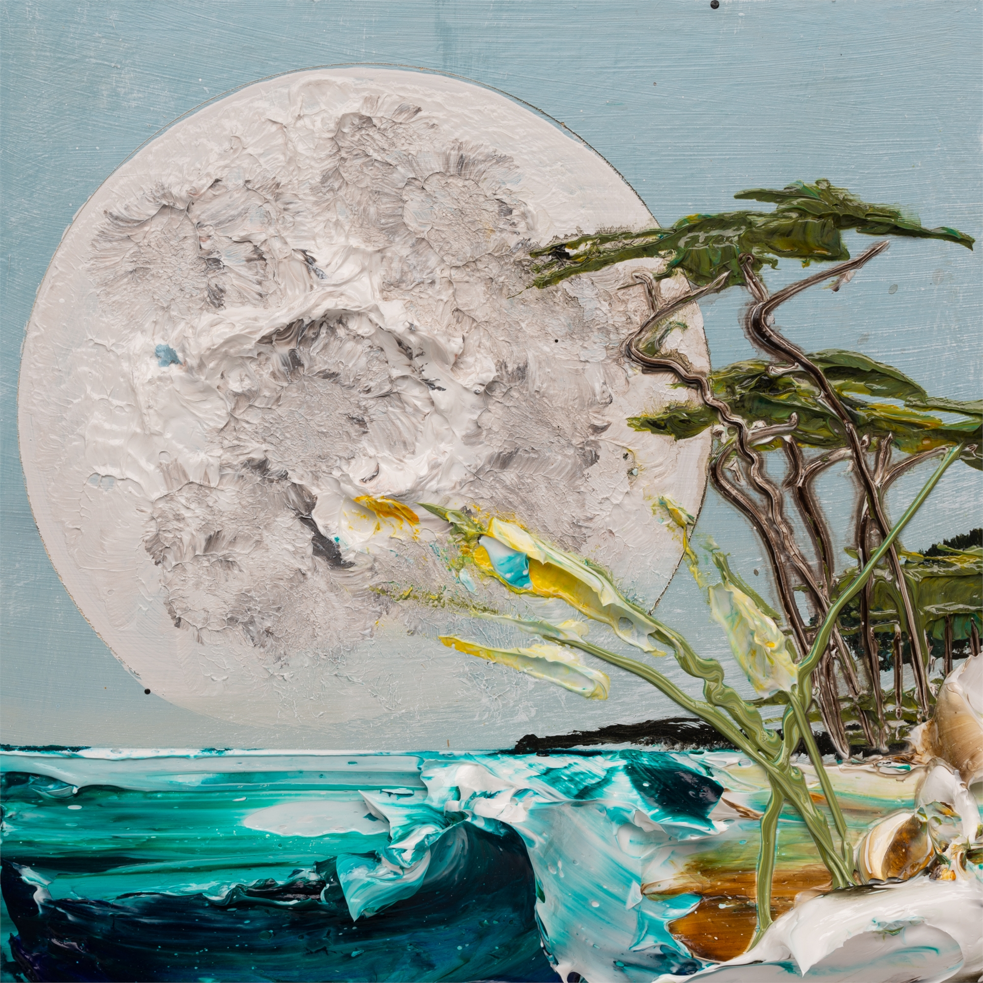 (SOLD) MOONSCAPE MS-12X12-2019-325 by JUSTIN GAFFREY