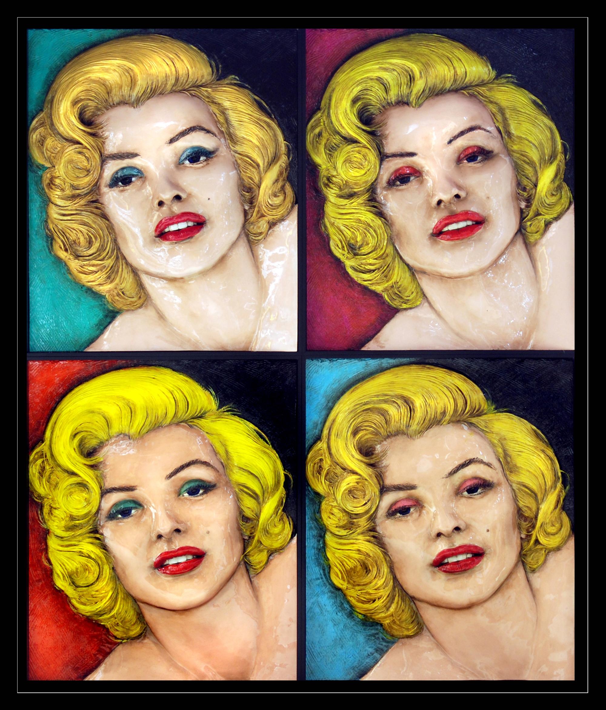 Warhol 4 Marilyns by Bill Mack