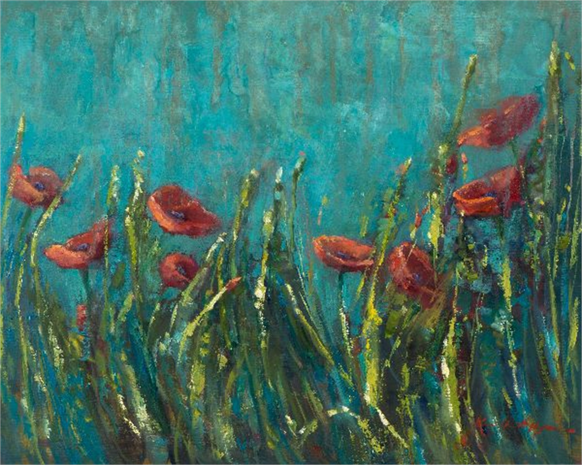 Italian Poppy Field by Karen Hewitt Hagan