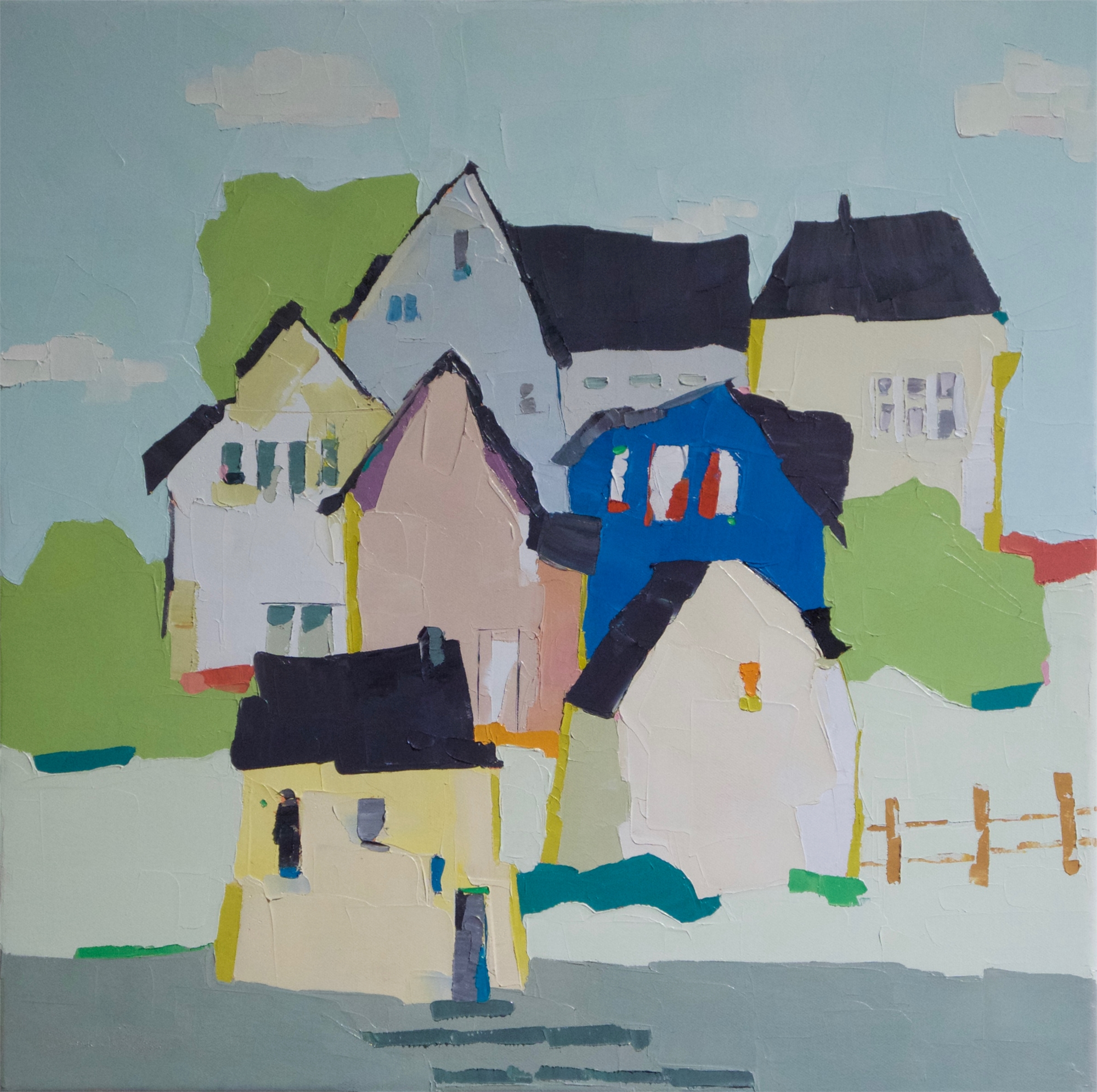 Hillside Village by Donna Walker