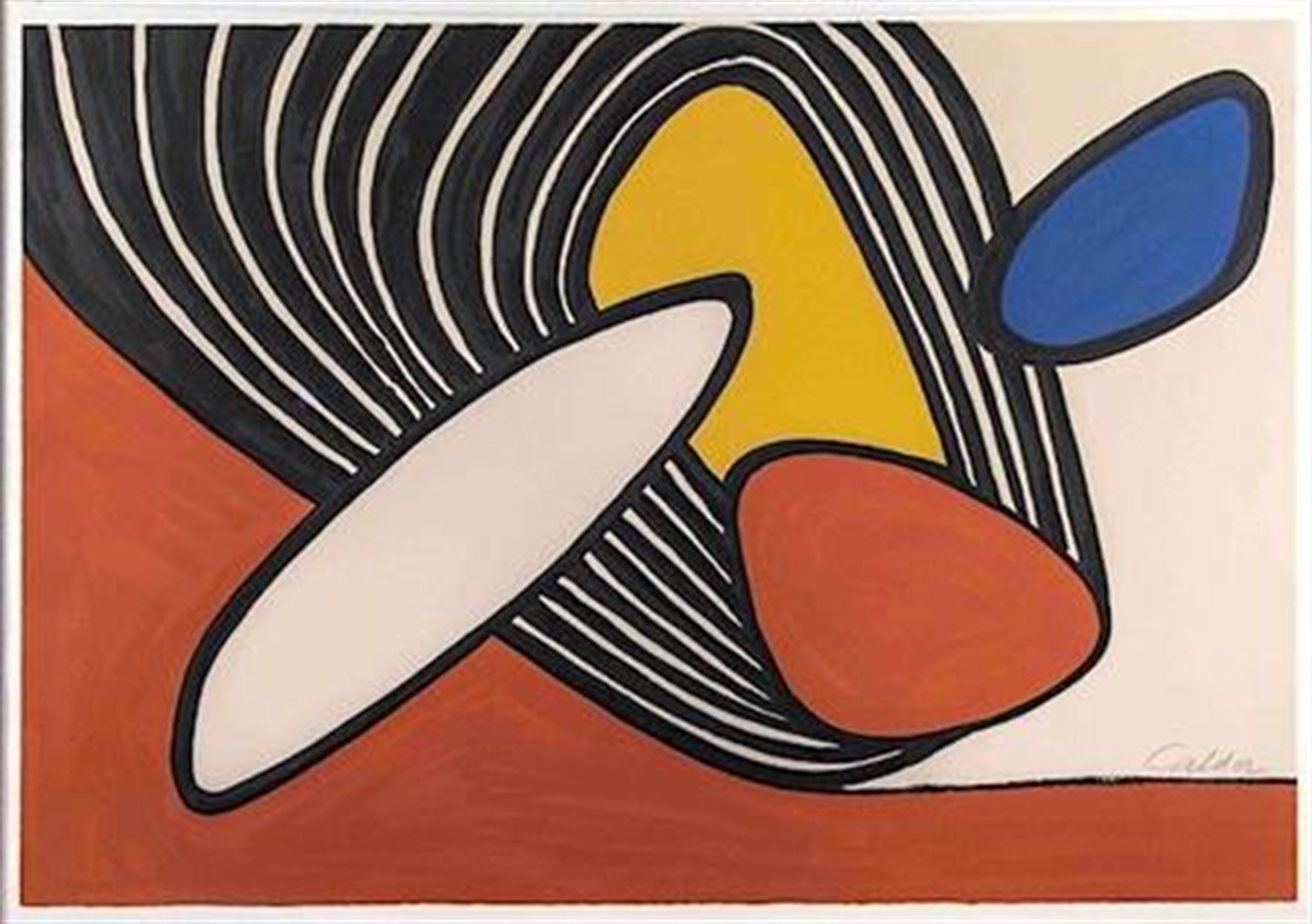 Composition with Discs and Black Spiral by Alexander Calder