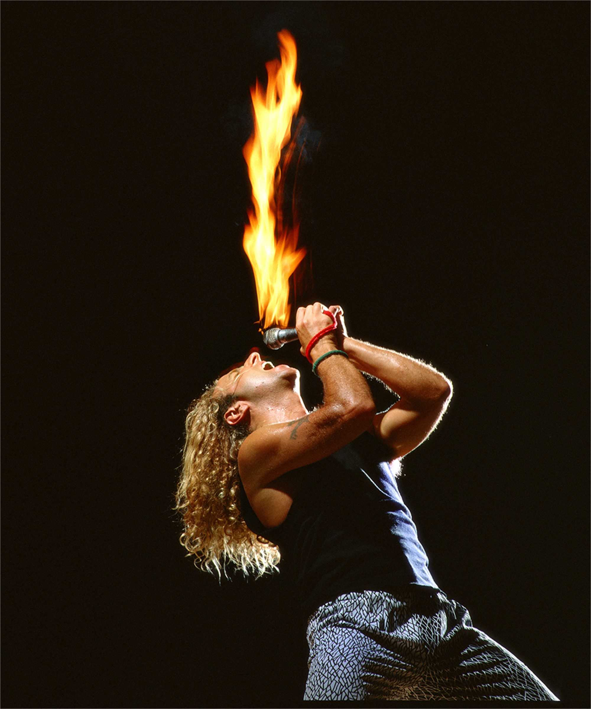 88077 Sammy Hagar Mic on Fire Color by Timothy White