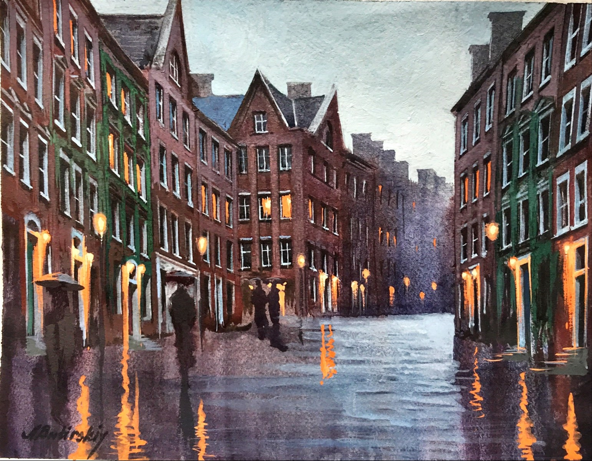 Dublin at Dusk by Alexei Butirskiy
