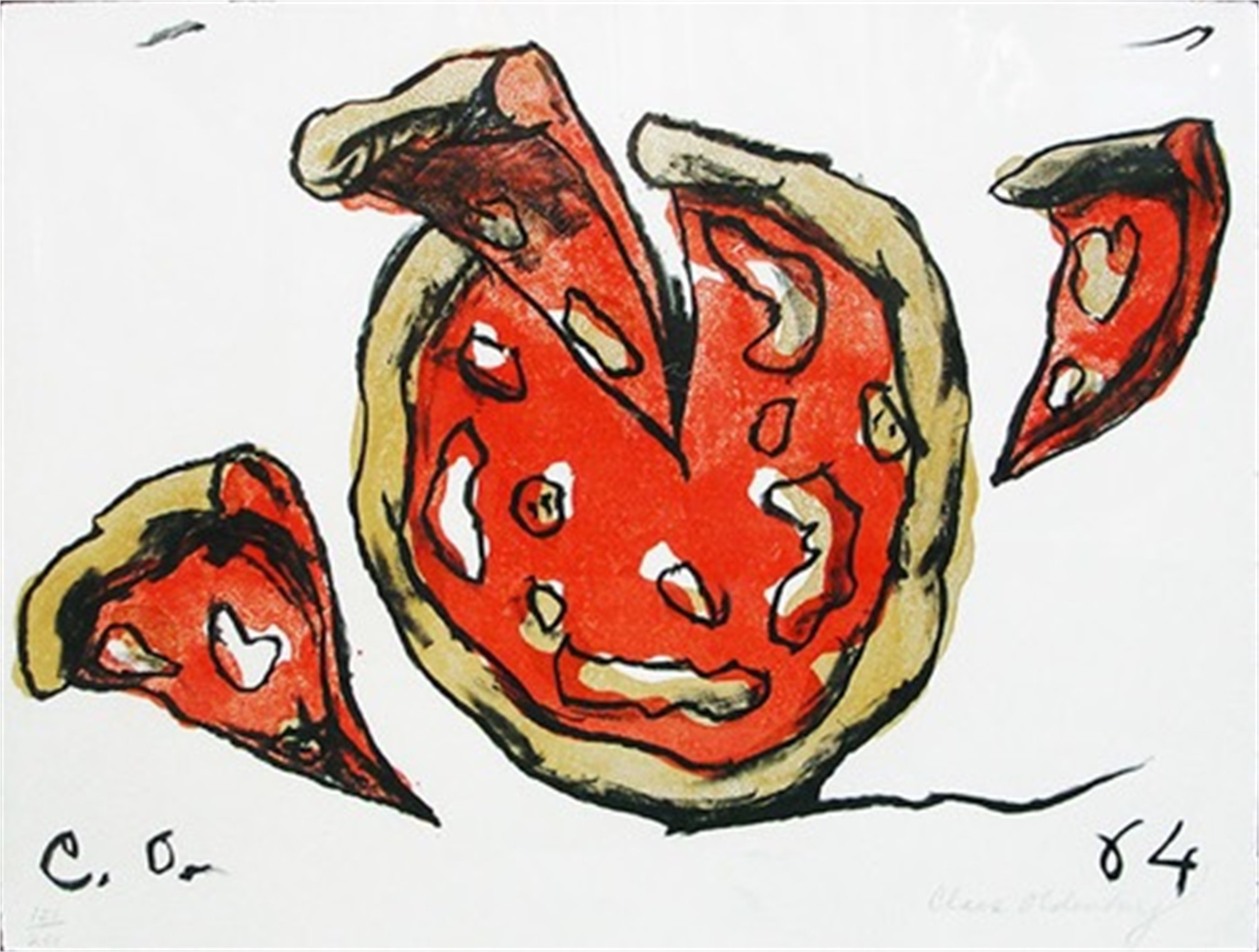 Flying Pizza (from the portfolio New York) by Claes Oldenburg
