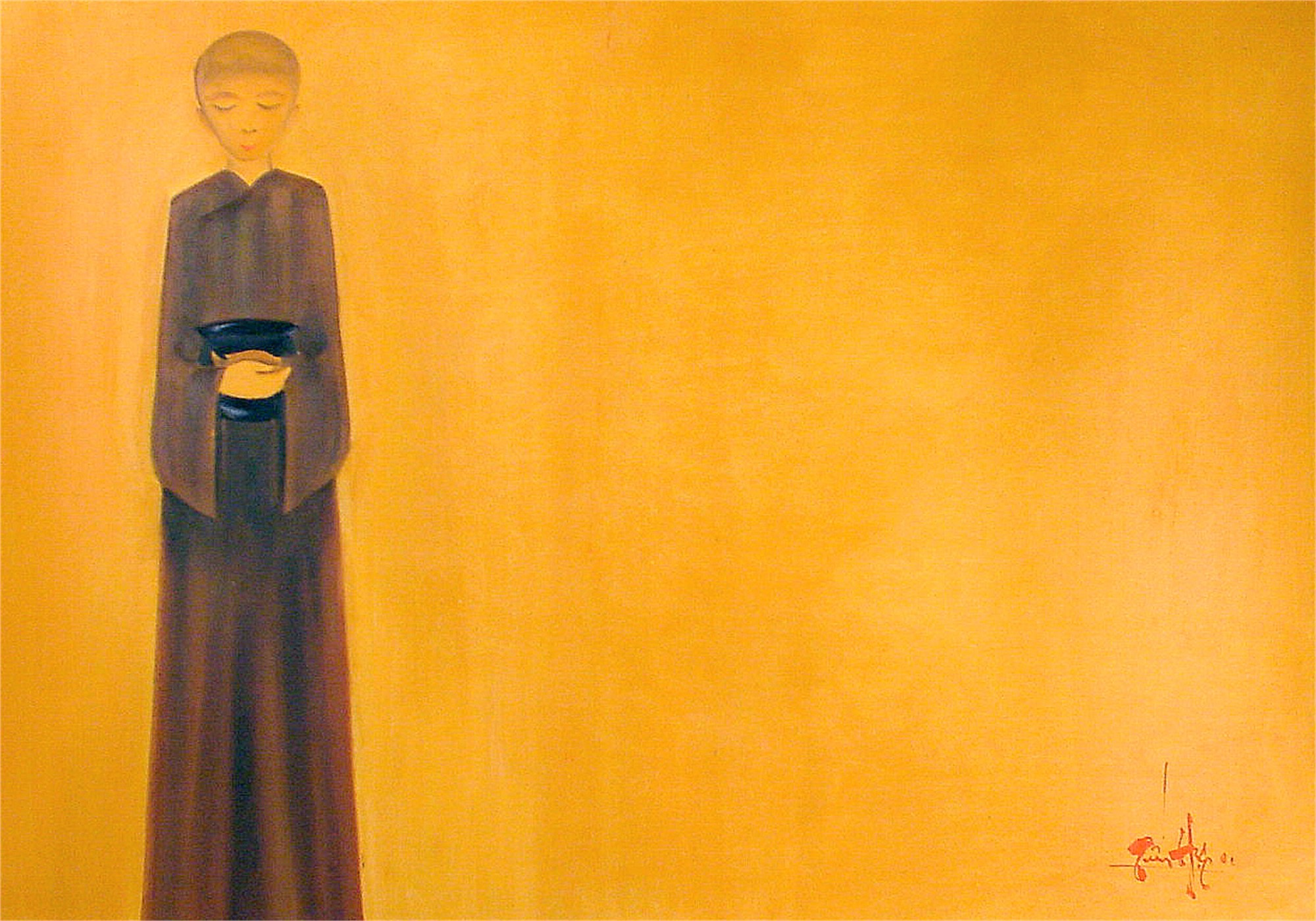 Monk with Bowl by Tuan Hiep