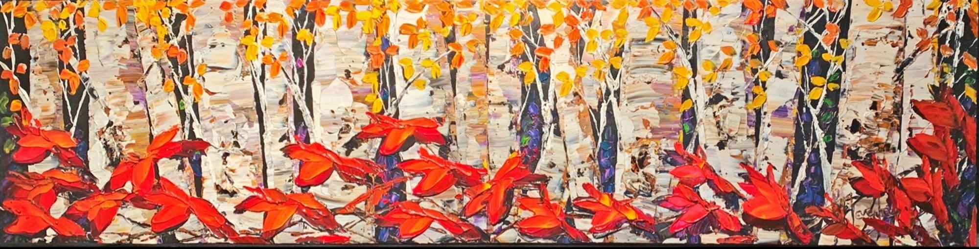 Night Birch by Maya Eventov