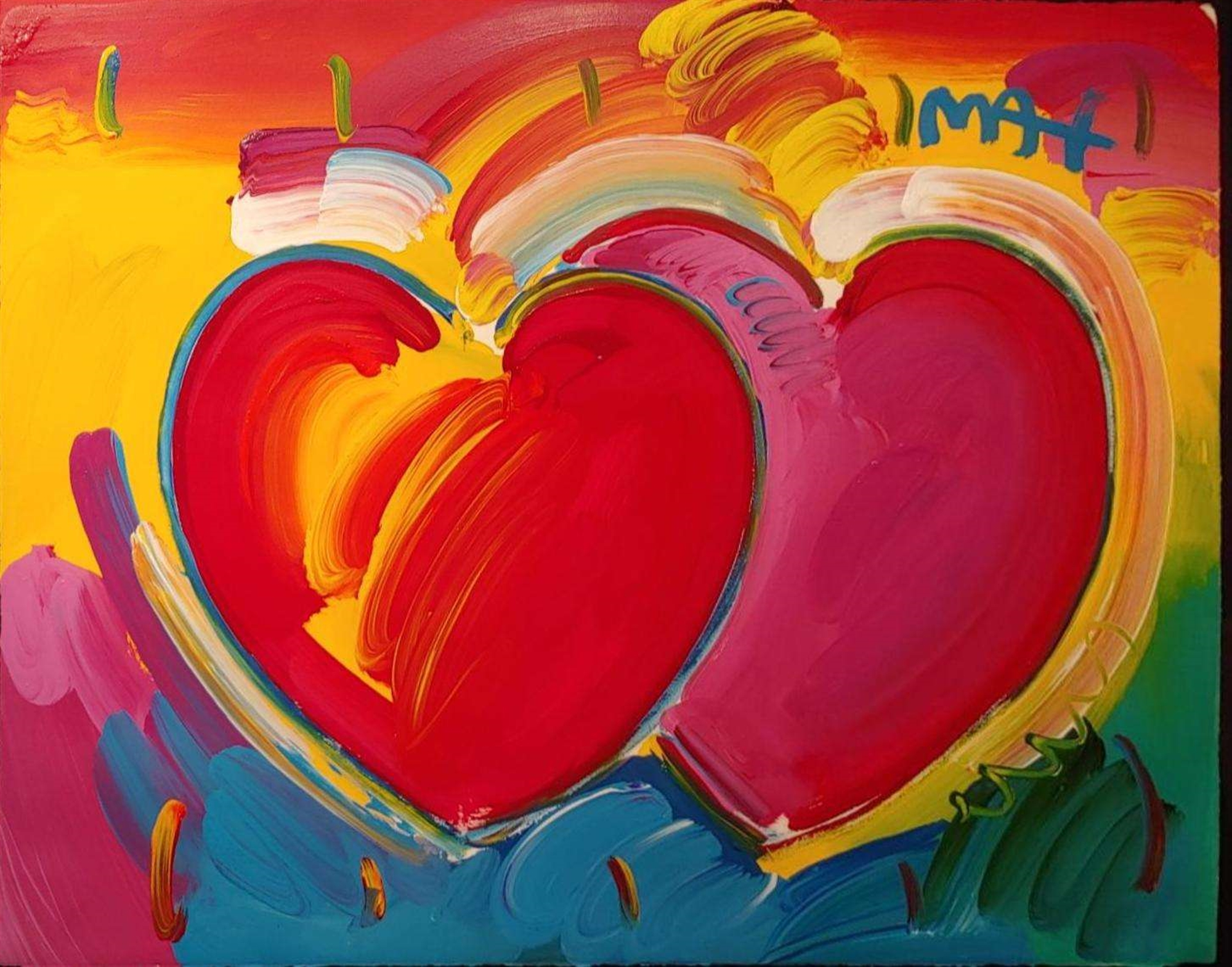 TWO HEARTS by Peter Max
