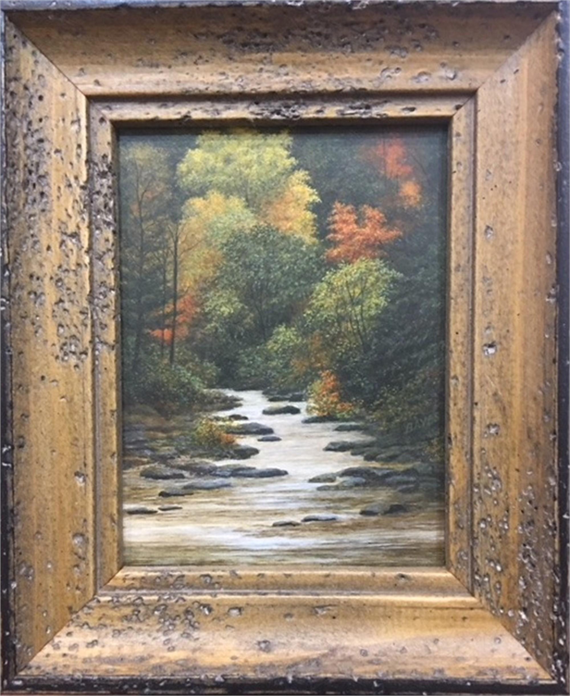 Autumn Palette - miniature painting by Judith Edgington Bayes