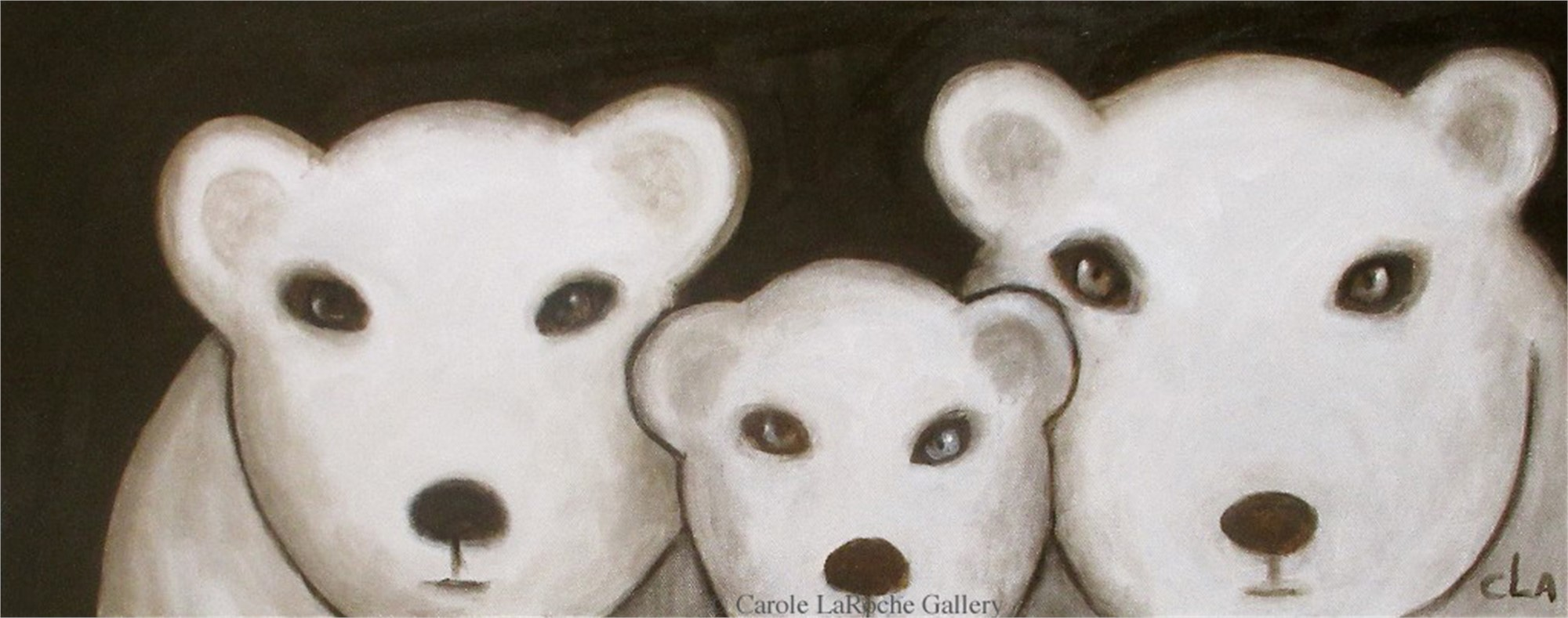 THREE POLAR BEARS by Carole LaRoche