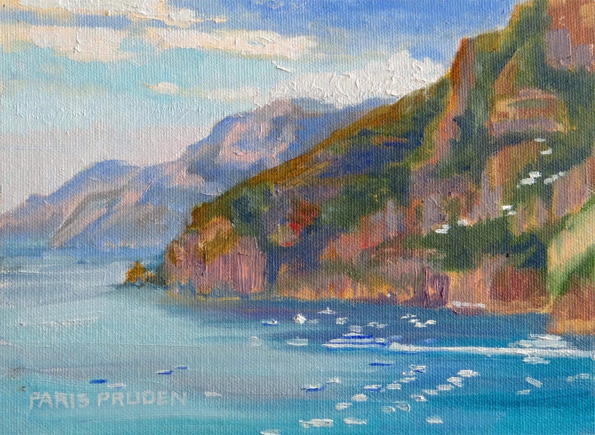 Cove In Positano by Nancy Paris Pruden