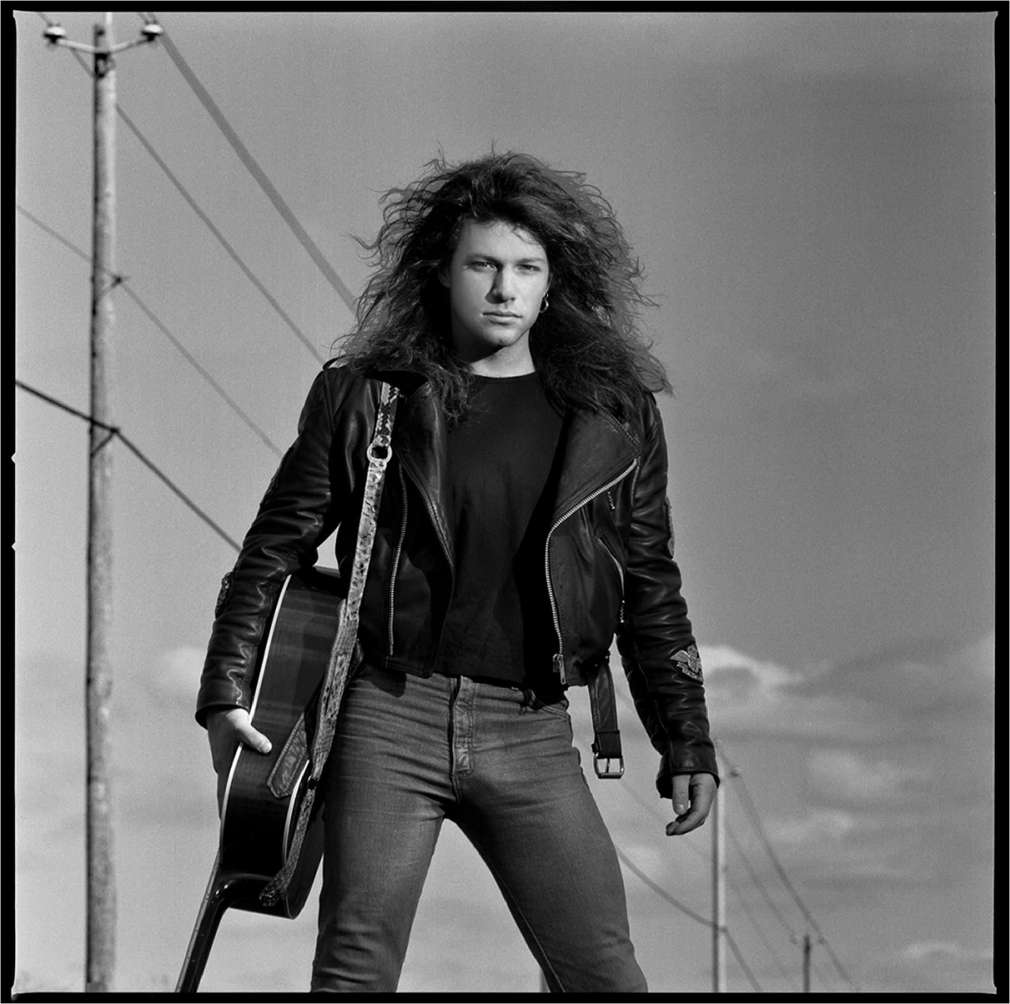 88182 Jon Bon Jovi Sky BW by Timothy White