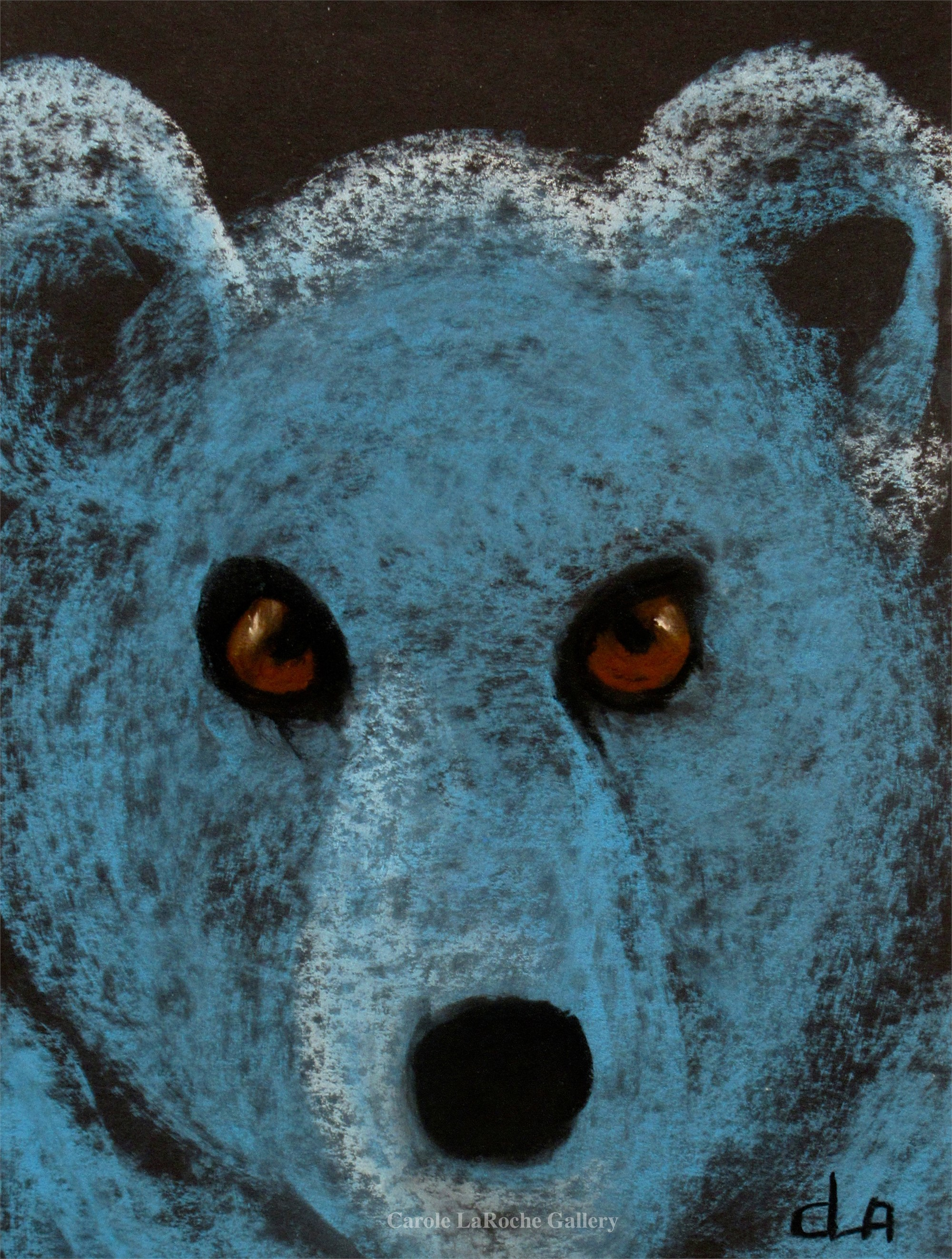 BROWN EYED BLUE BEAR by Carole LaRoche