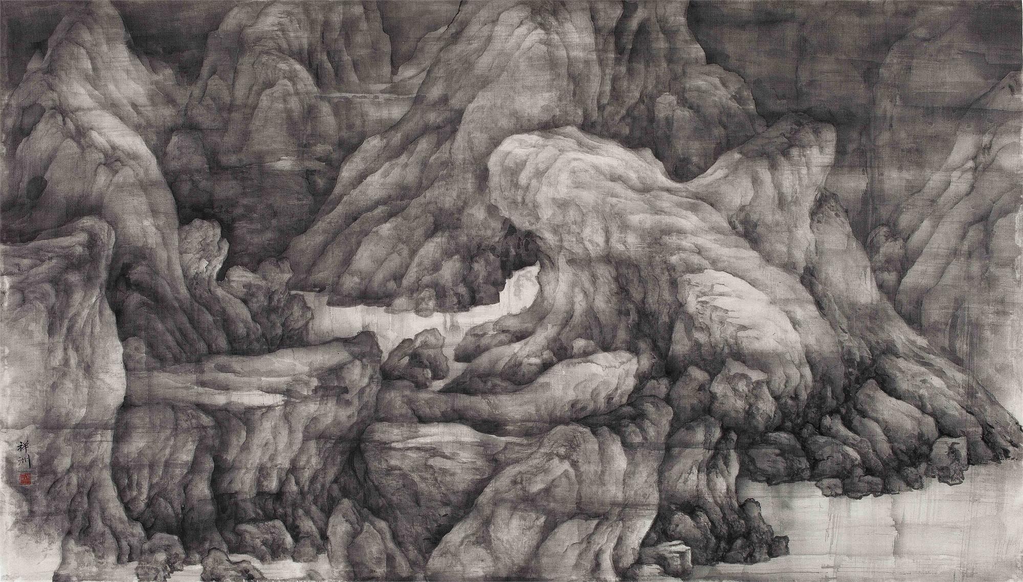 Misty Mountain by Xiangzhou Tai