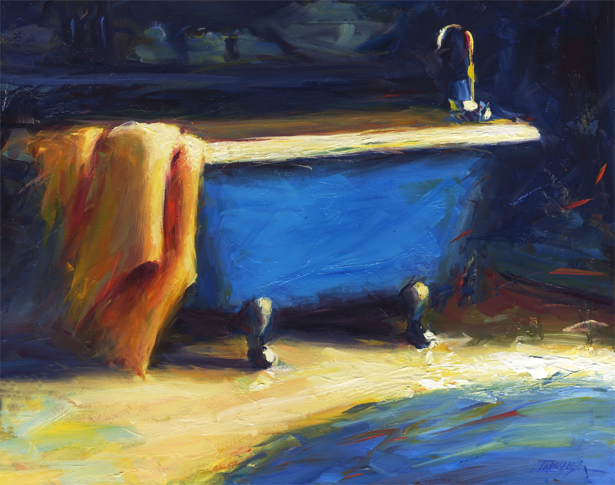 Blue Bath II by Pam Ingalls