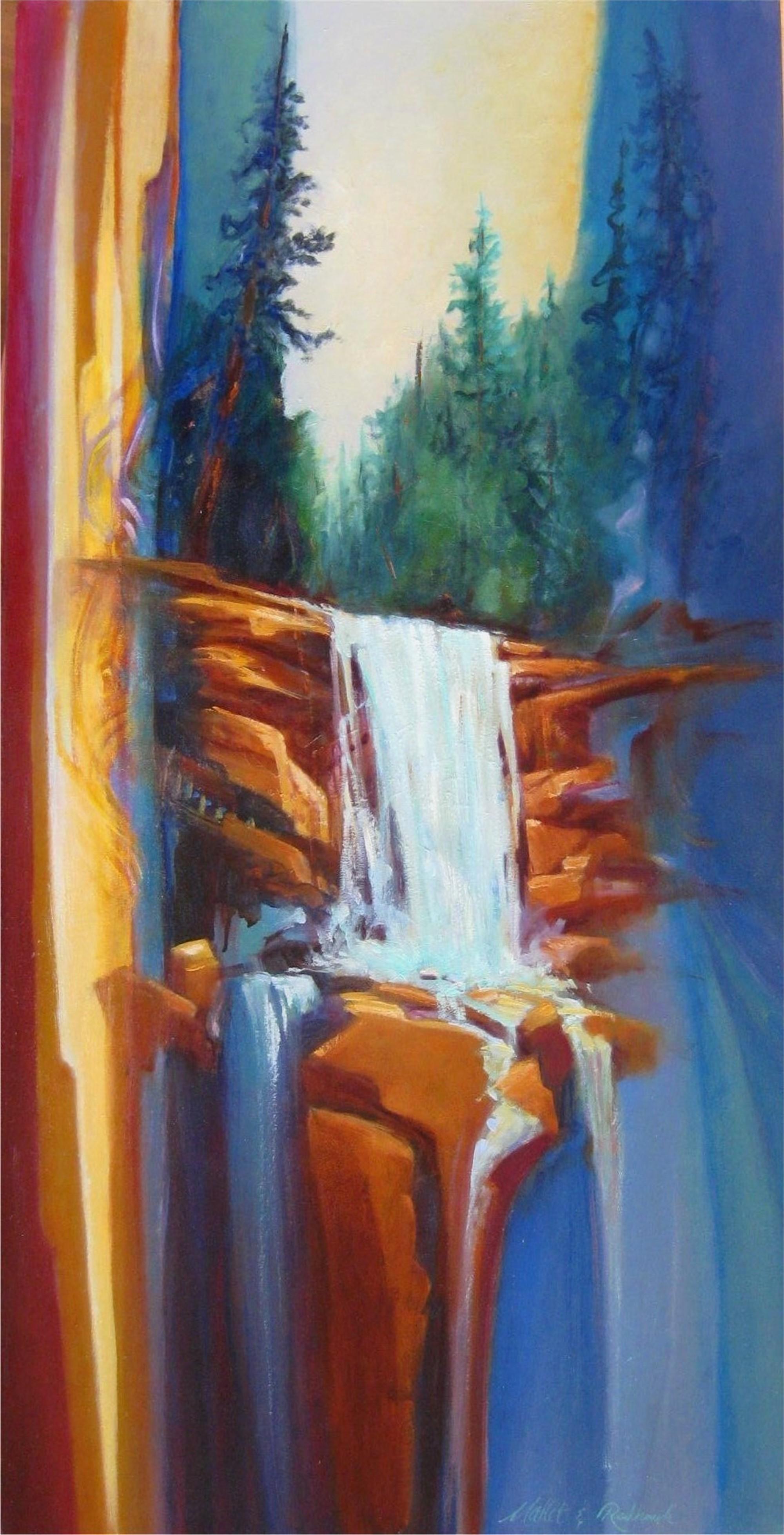 Crystal Falls by Marlys Mallét & Michael Redhawk