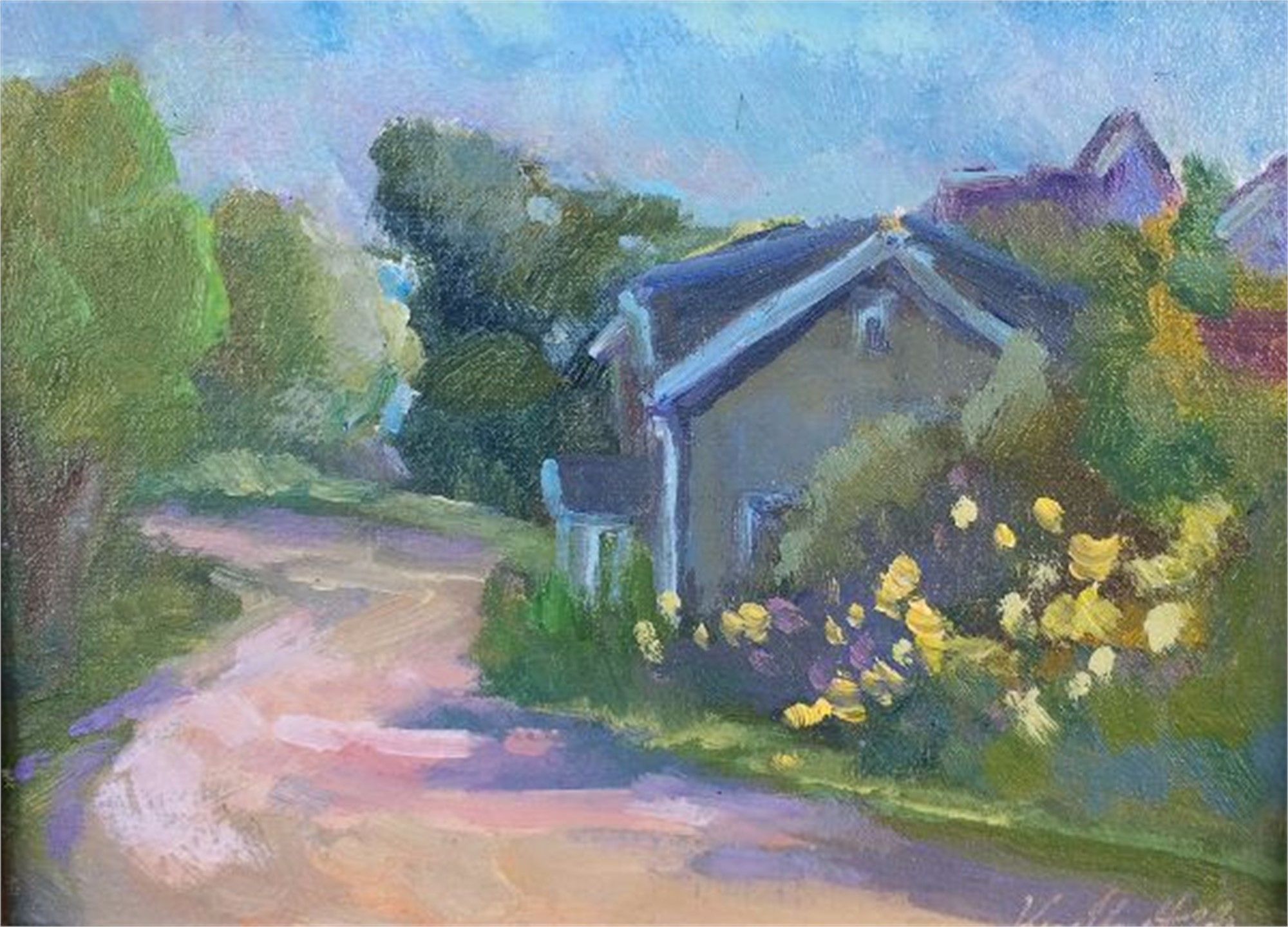 Monhegan Cottage (Maine) by Karen Hewitt Hagan