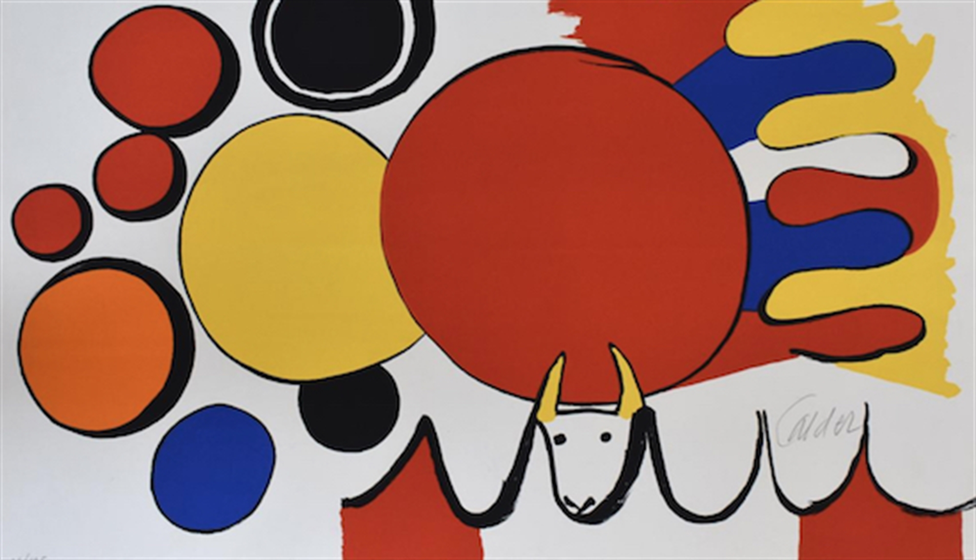 Bull and Circles, from: Poems to Watch by Alexander Calder