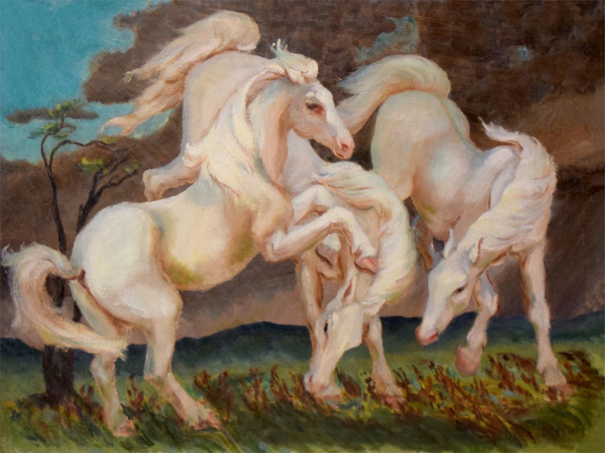 White Stallions by Emily Rutland