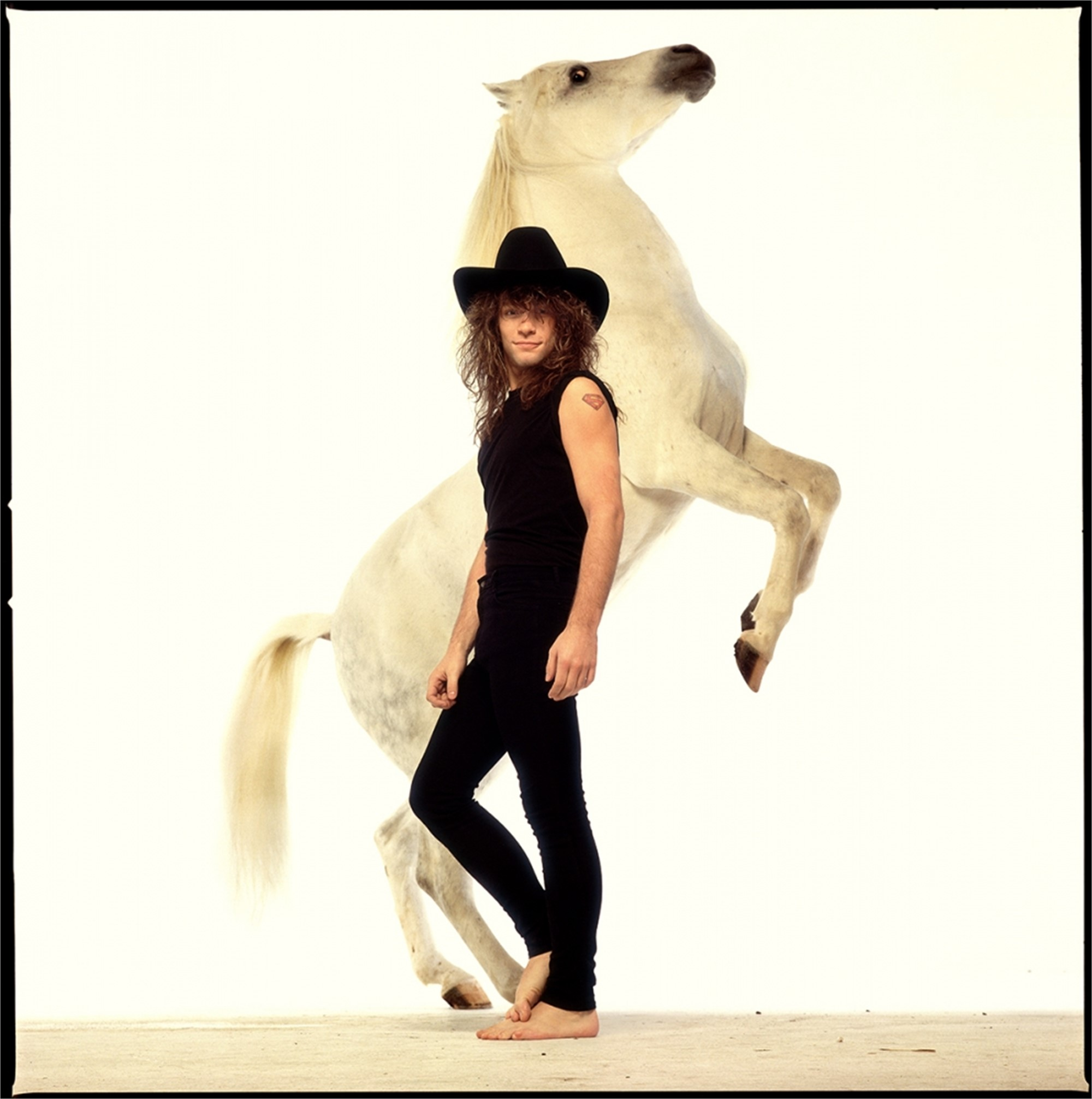 88215 Jon Bon Jovi Horse Rolling Stone Color by Timothy White