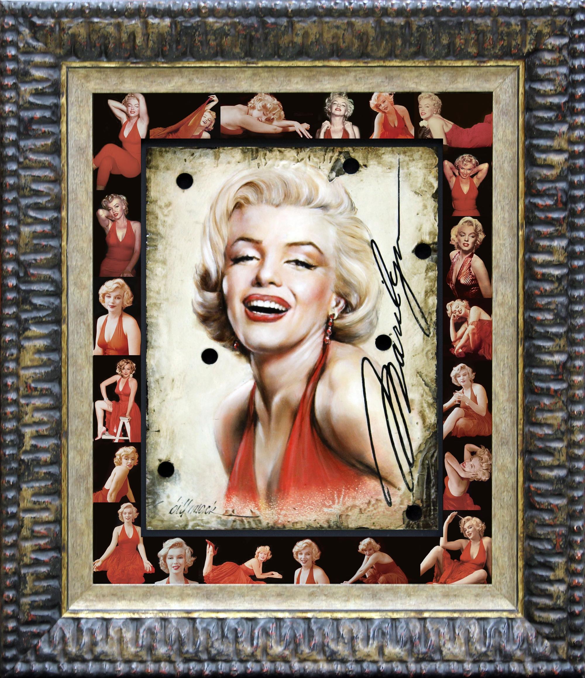 Marilyn Black Red Halter by Bill Mack Hollywood Sign