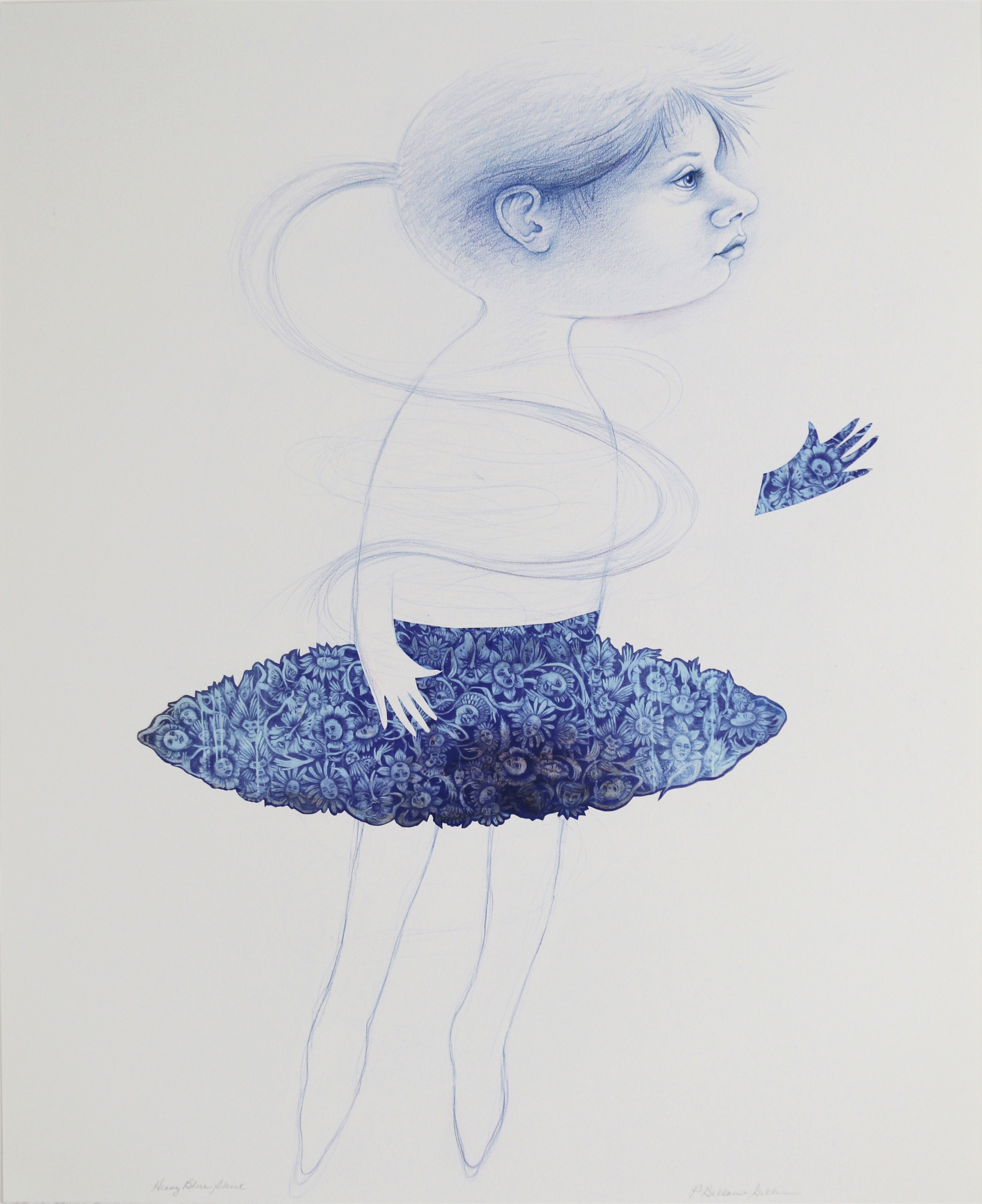 Heavy Blue Skirt by Patricia Bellan-Gillen
