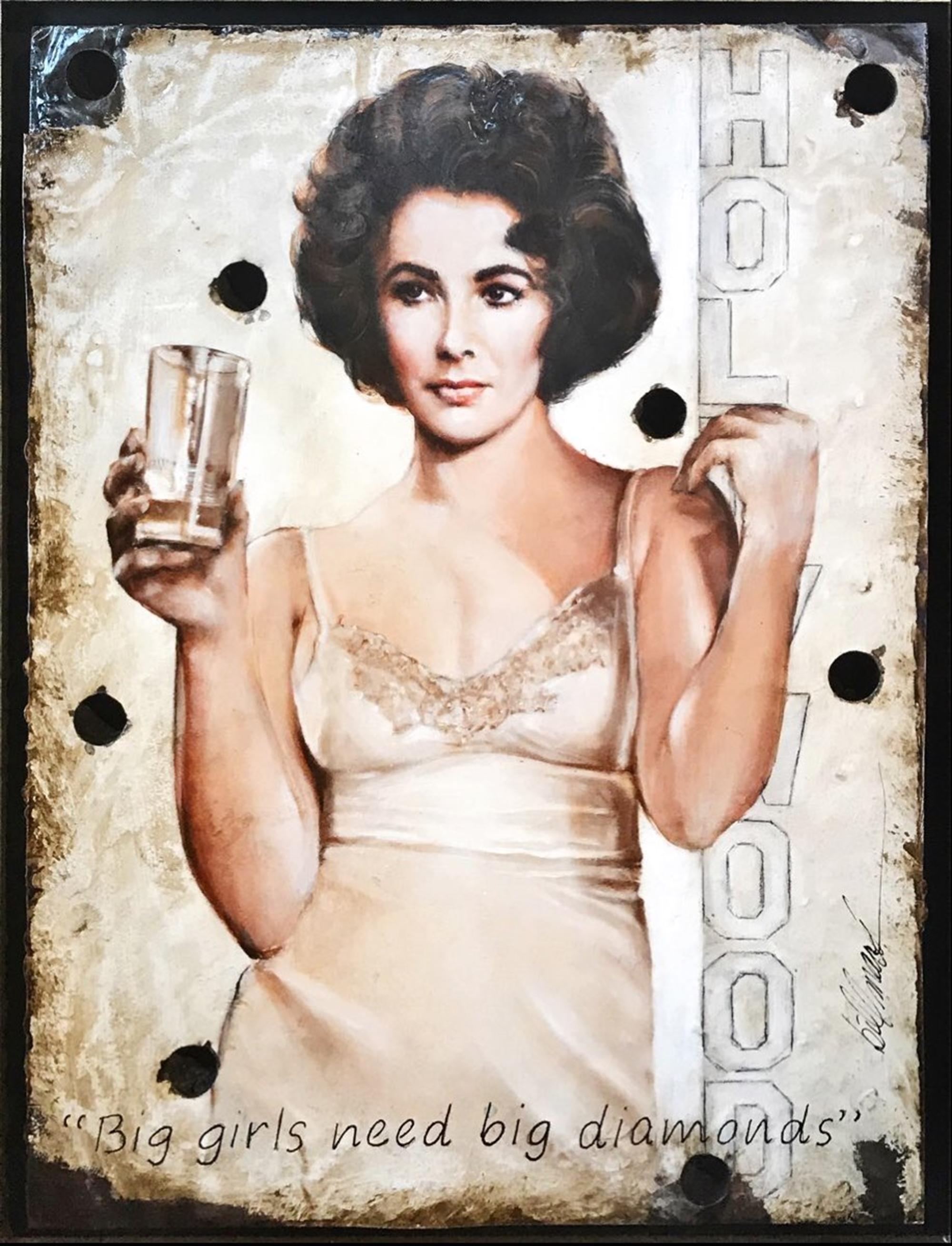 Elizabeth Taylor- Diamonds by Bill Mack Hollywood Sign