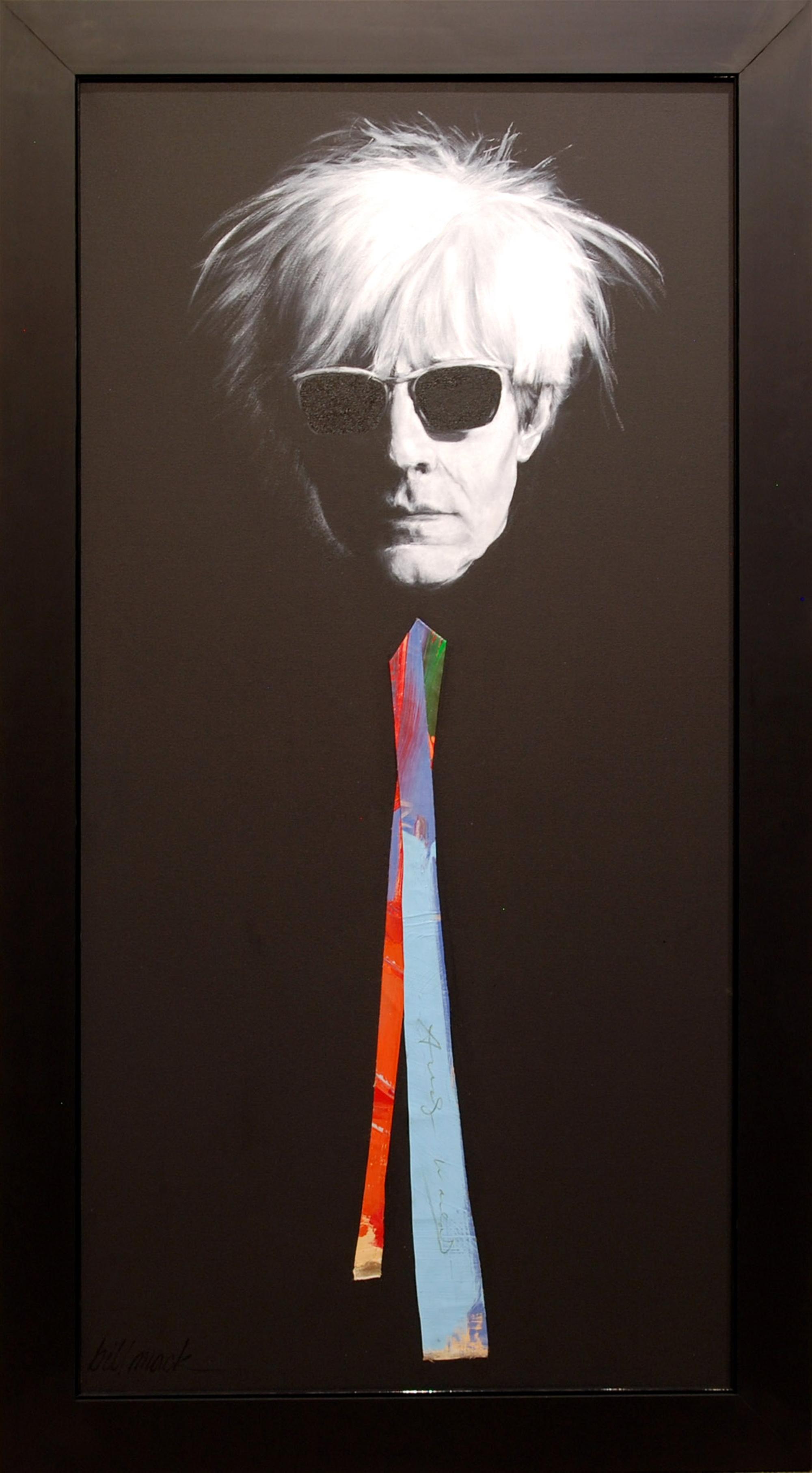 Warhol Signed Canvas Tie by Bill Mack