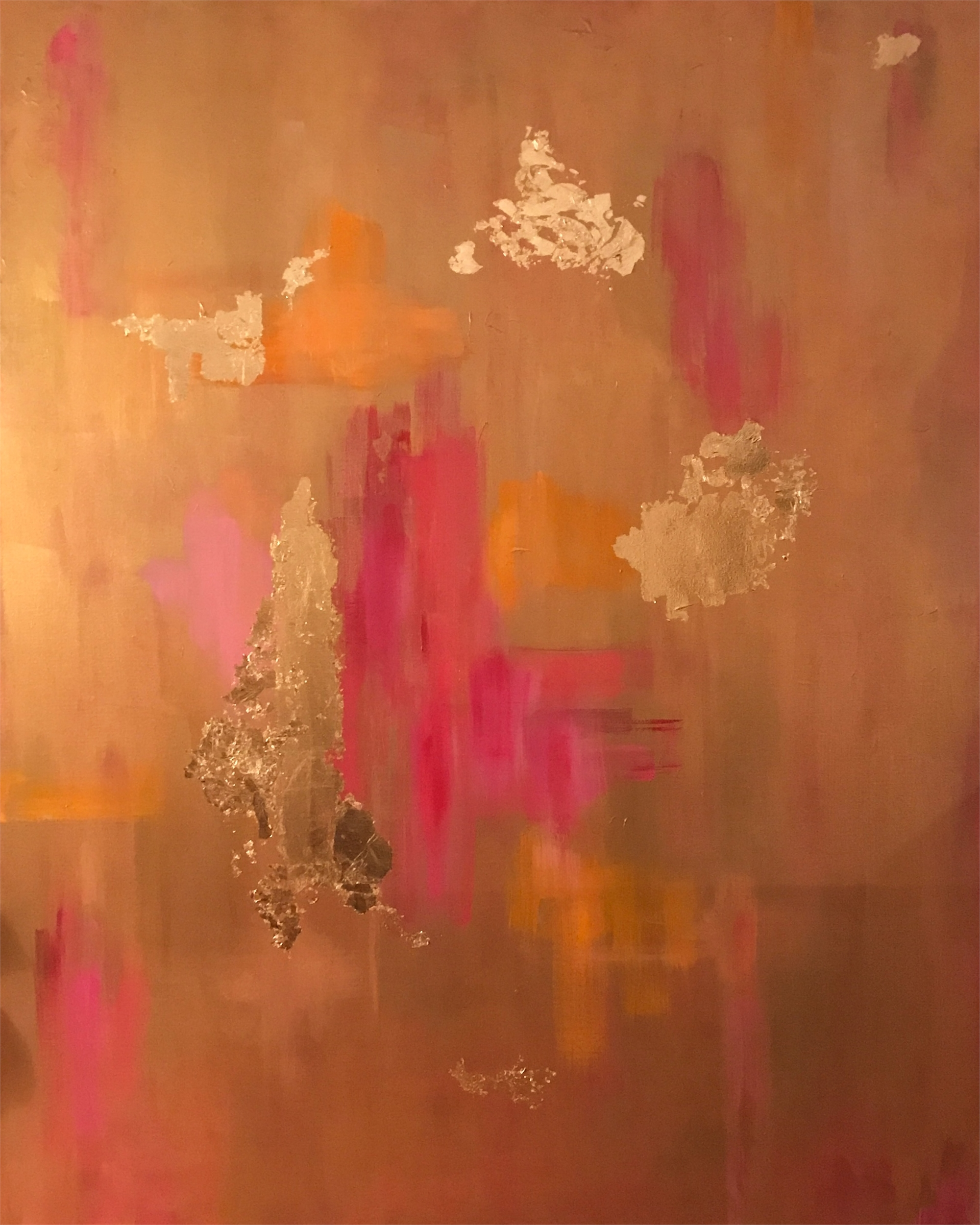 Beauty Series - Orange and Pink by Leslie Poteet Busker