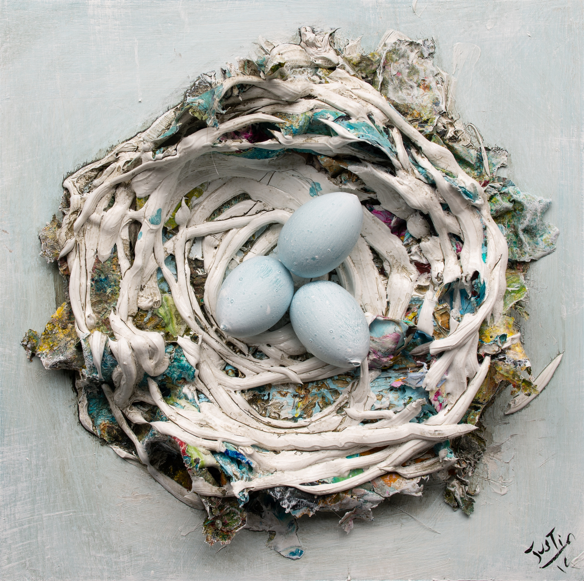 (SOLD) NEST NS-16x16-2019-265 by JUSTIN GAFFREY
