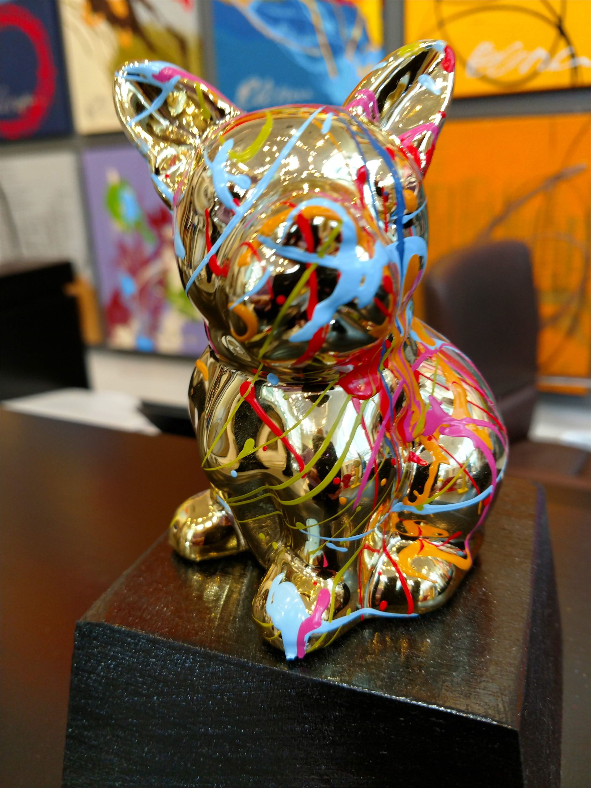 """Tommy Dog"" Gold by Elena Bulatova"