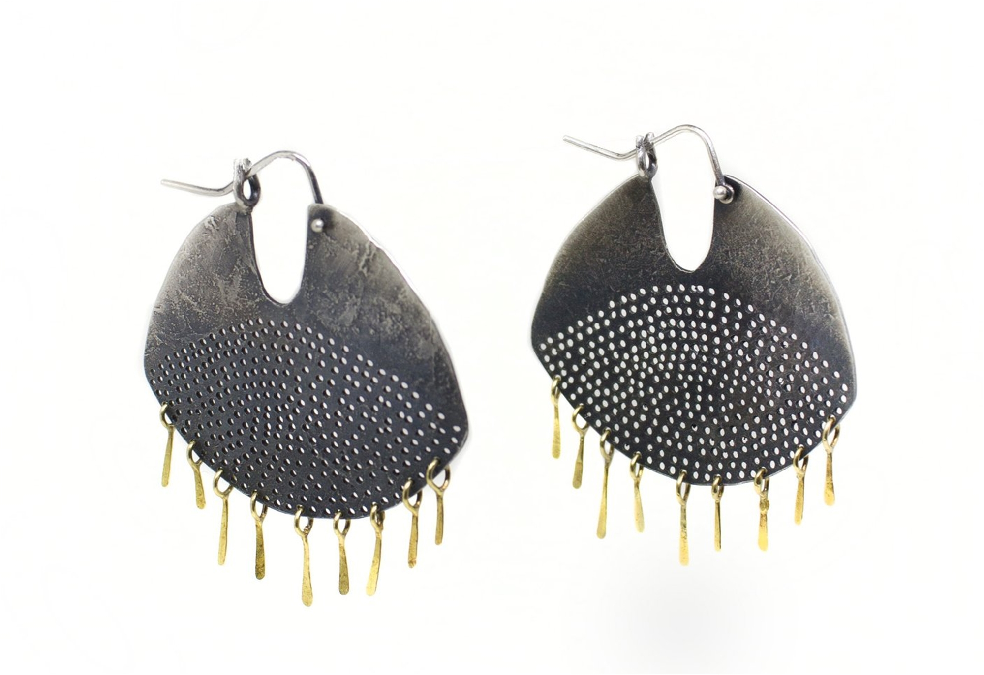 Gibbous Fringe Earrings by Leia Zumbro