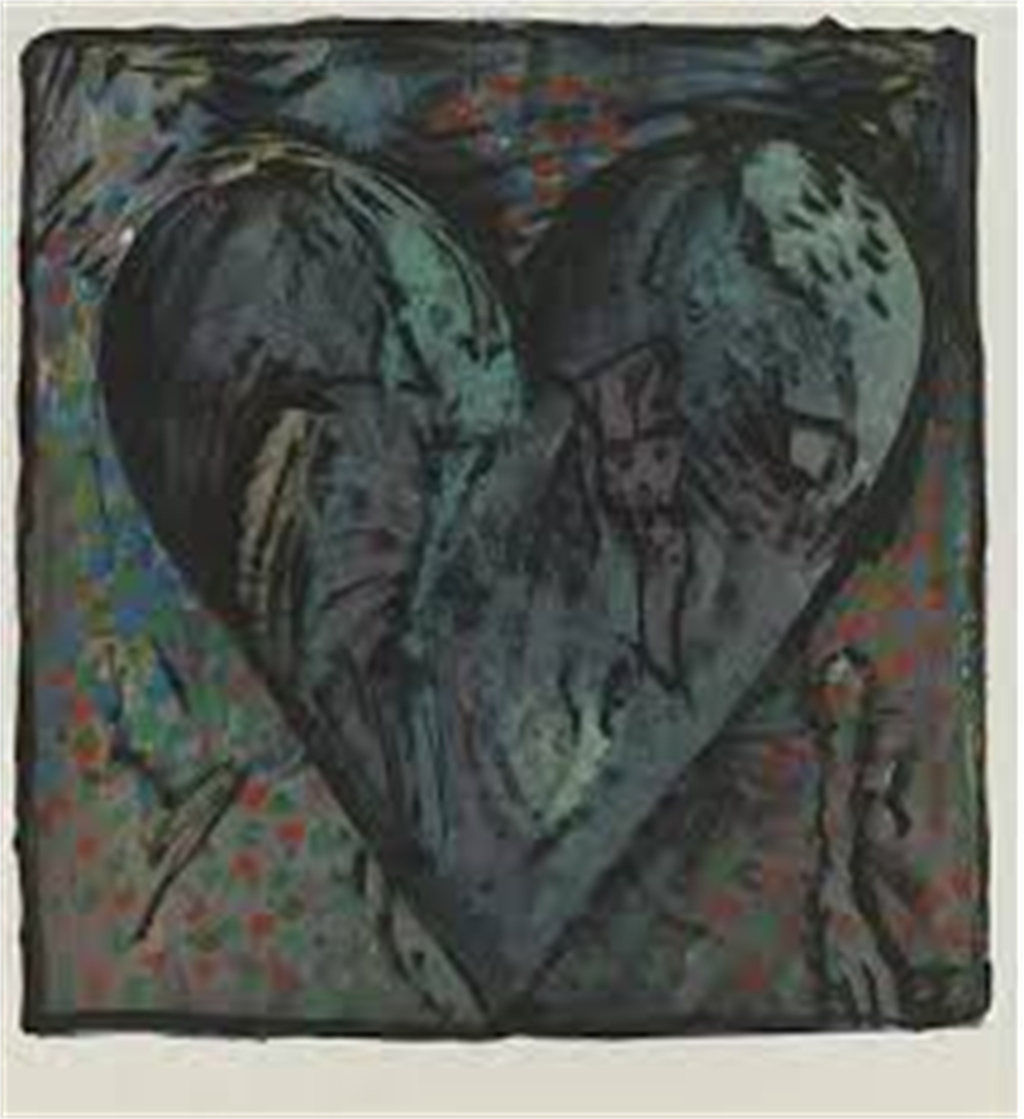 The Hand Colored Viennese Hearts VI by Jim Dine