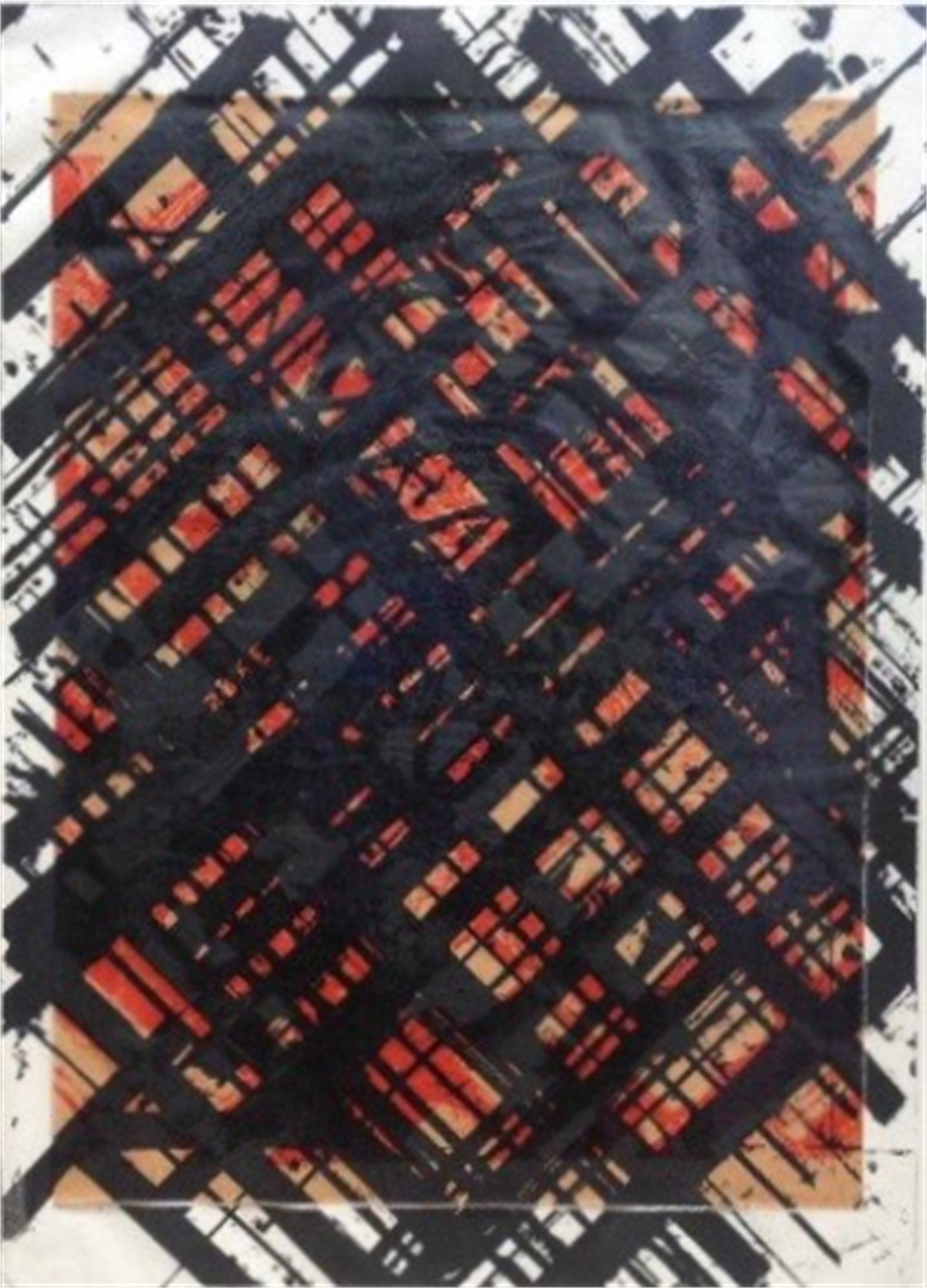 Untitled (with collage) by Ed Moses