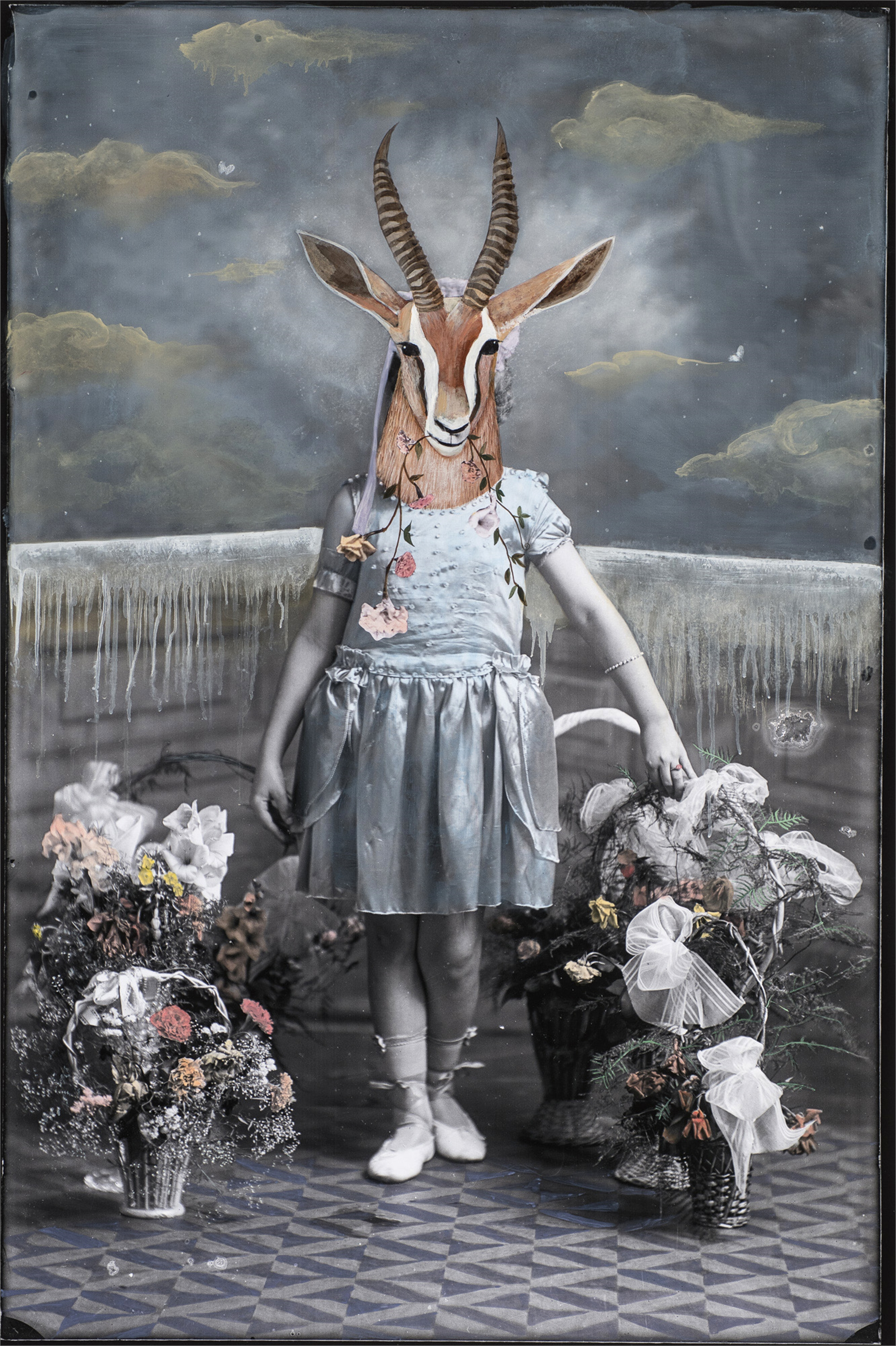 Gazelle Girl Eating Flowers by Alexandra Eldridge